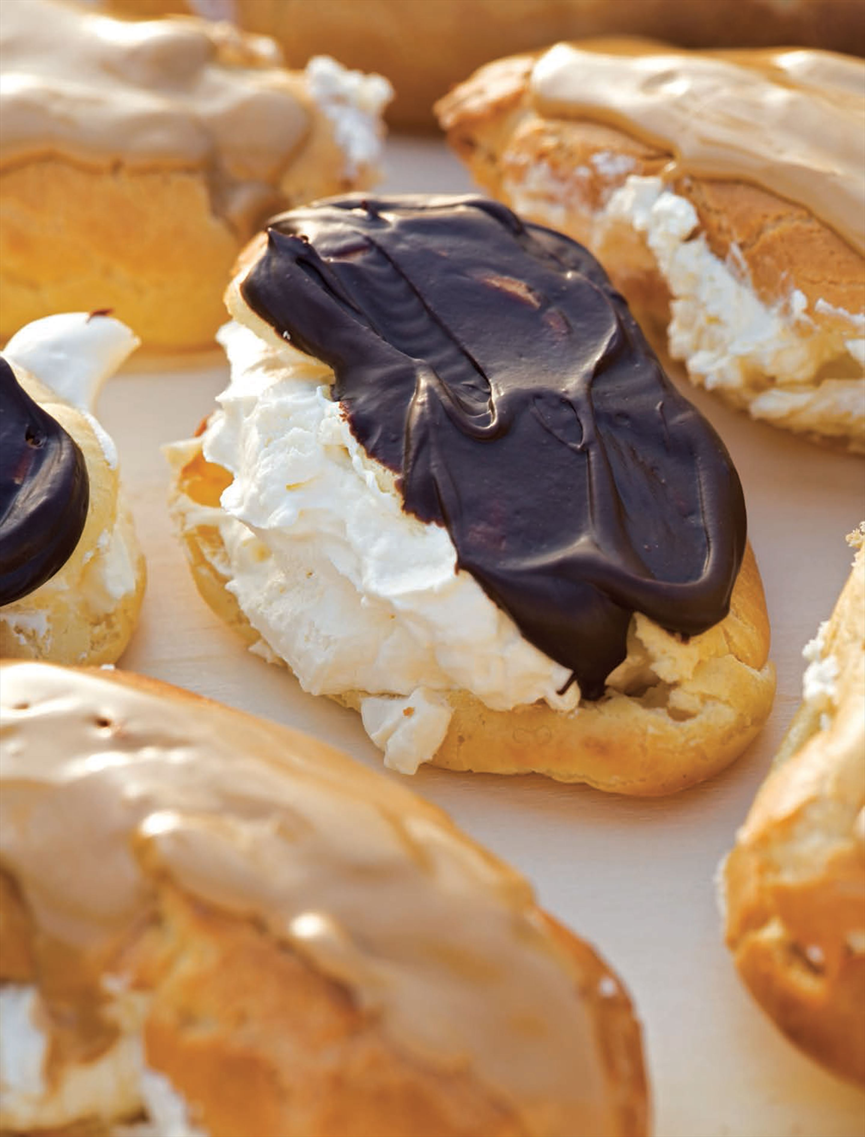 Mrs Titley's chocolate and coffee éclairs