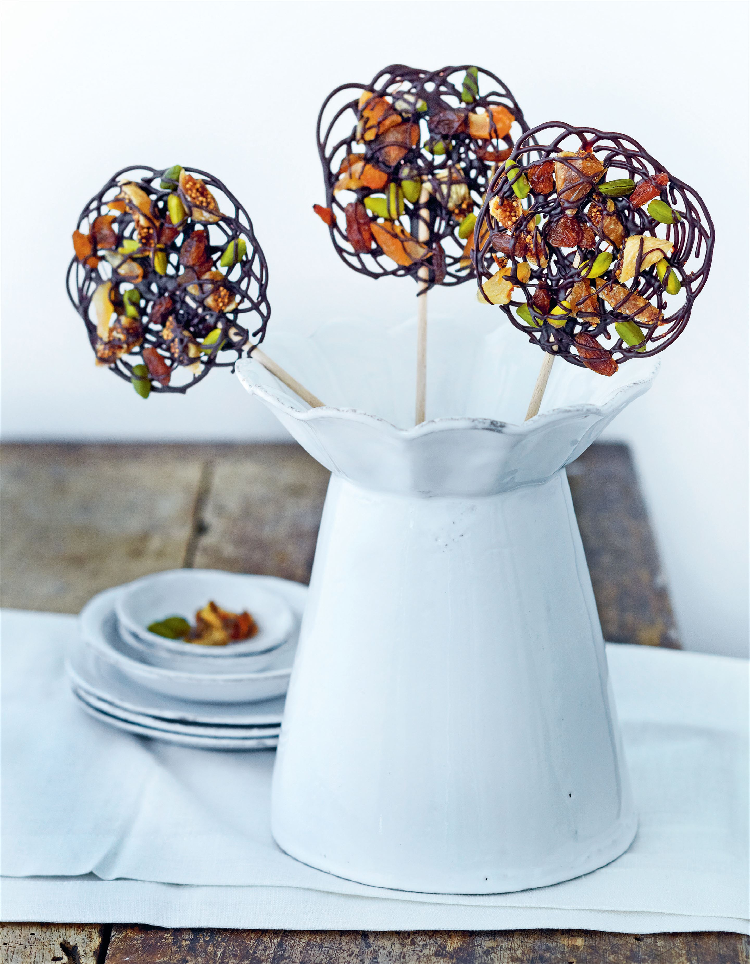 Fruit and nut lollipops