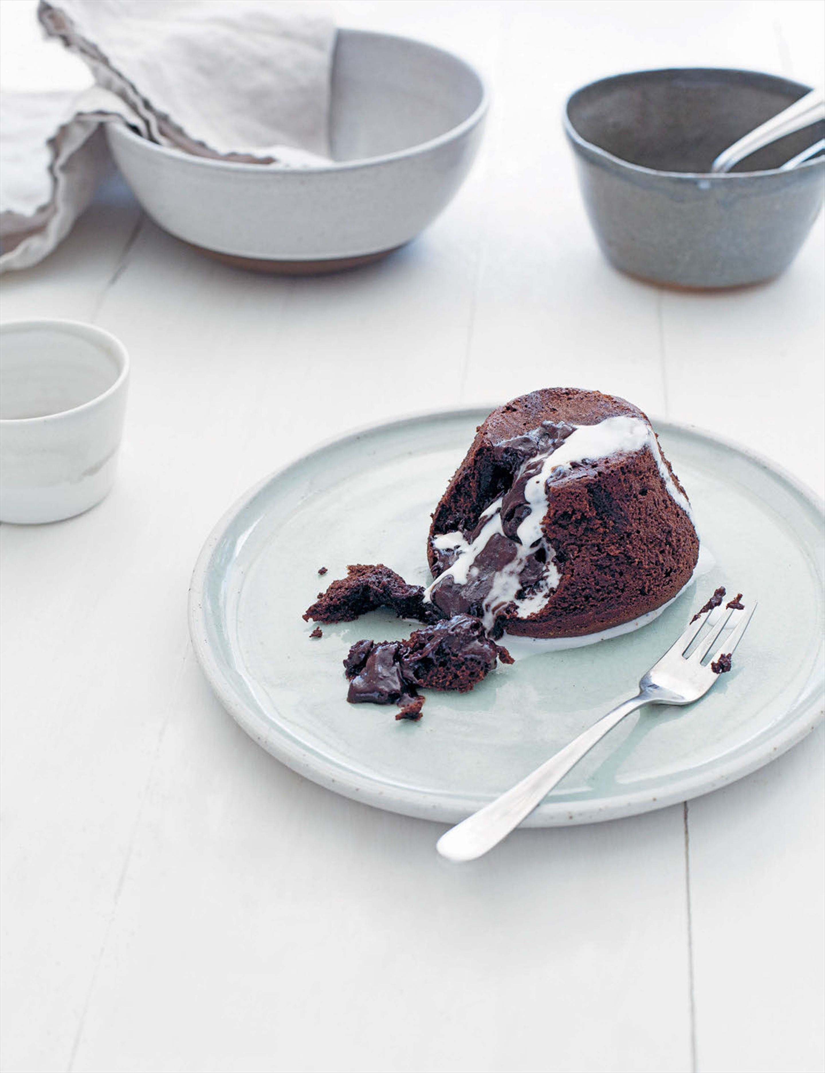 Chocolate molten puddings