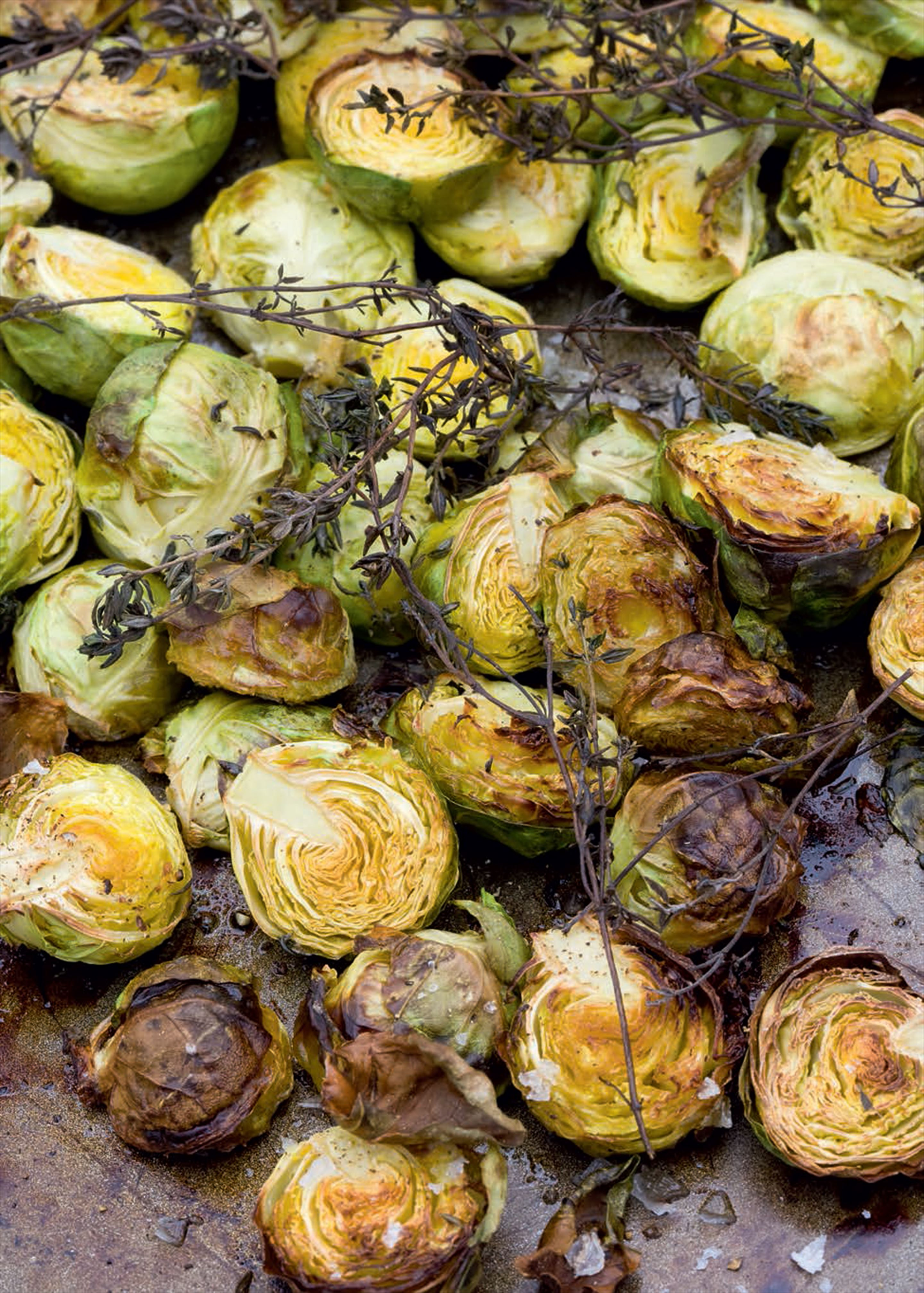 Shredded Brussels sprouts with ginger and toasted almonds