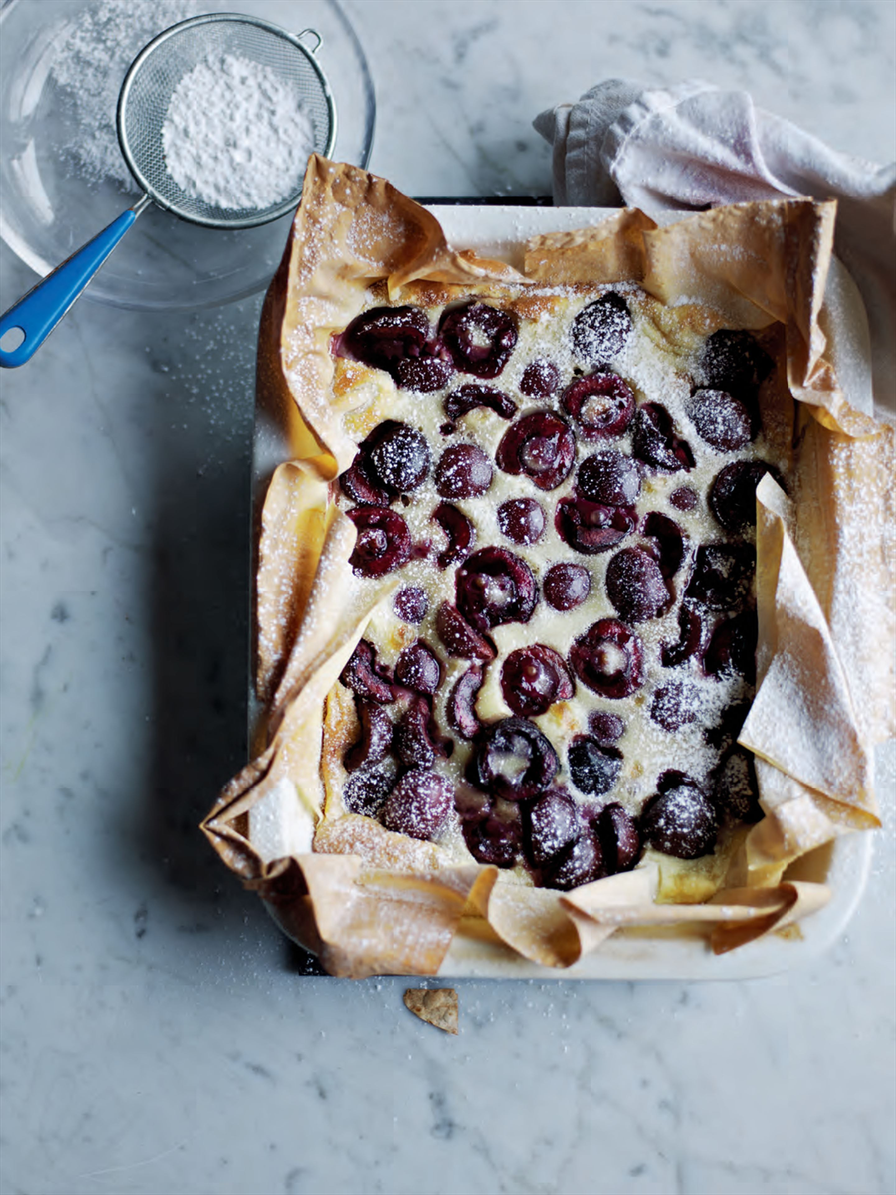 Black cherry clafoutis