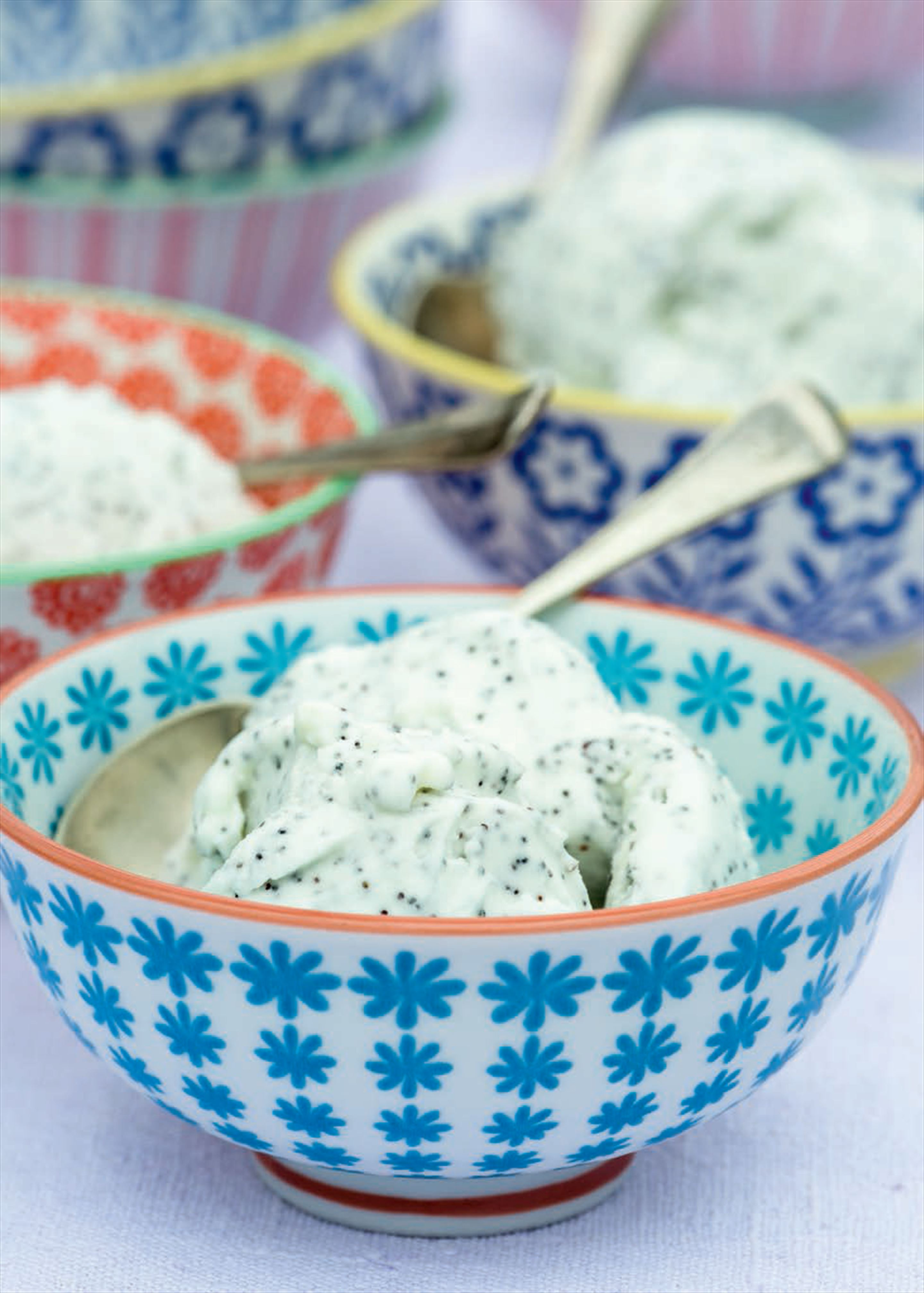 Cardamom and poppy seed ice cream