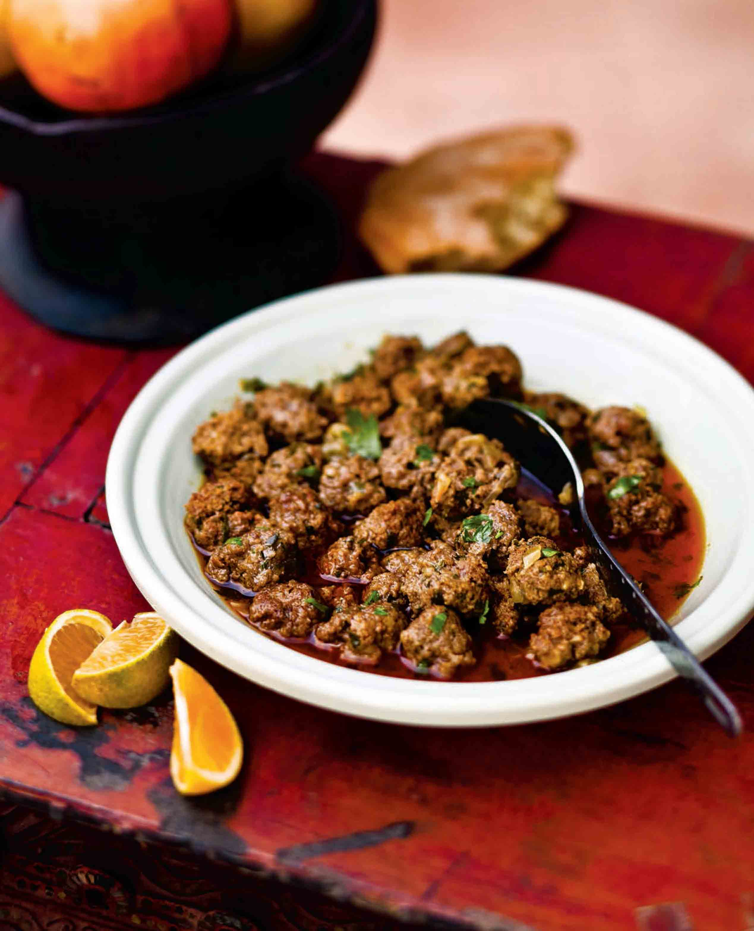 Kefta tagine with herbs, spices and lemon