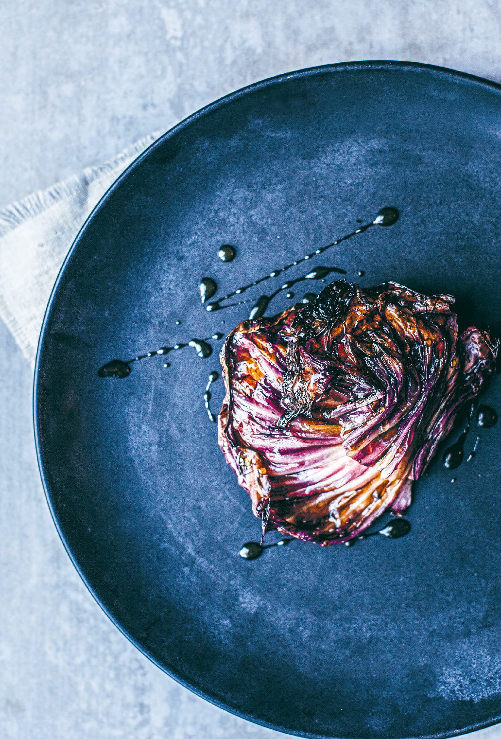 Aged lamb rump/raw honey vinegar/radicchio and parsnip