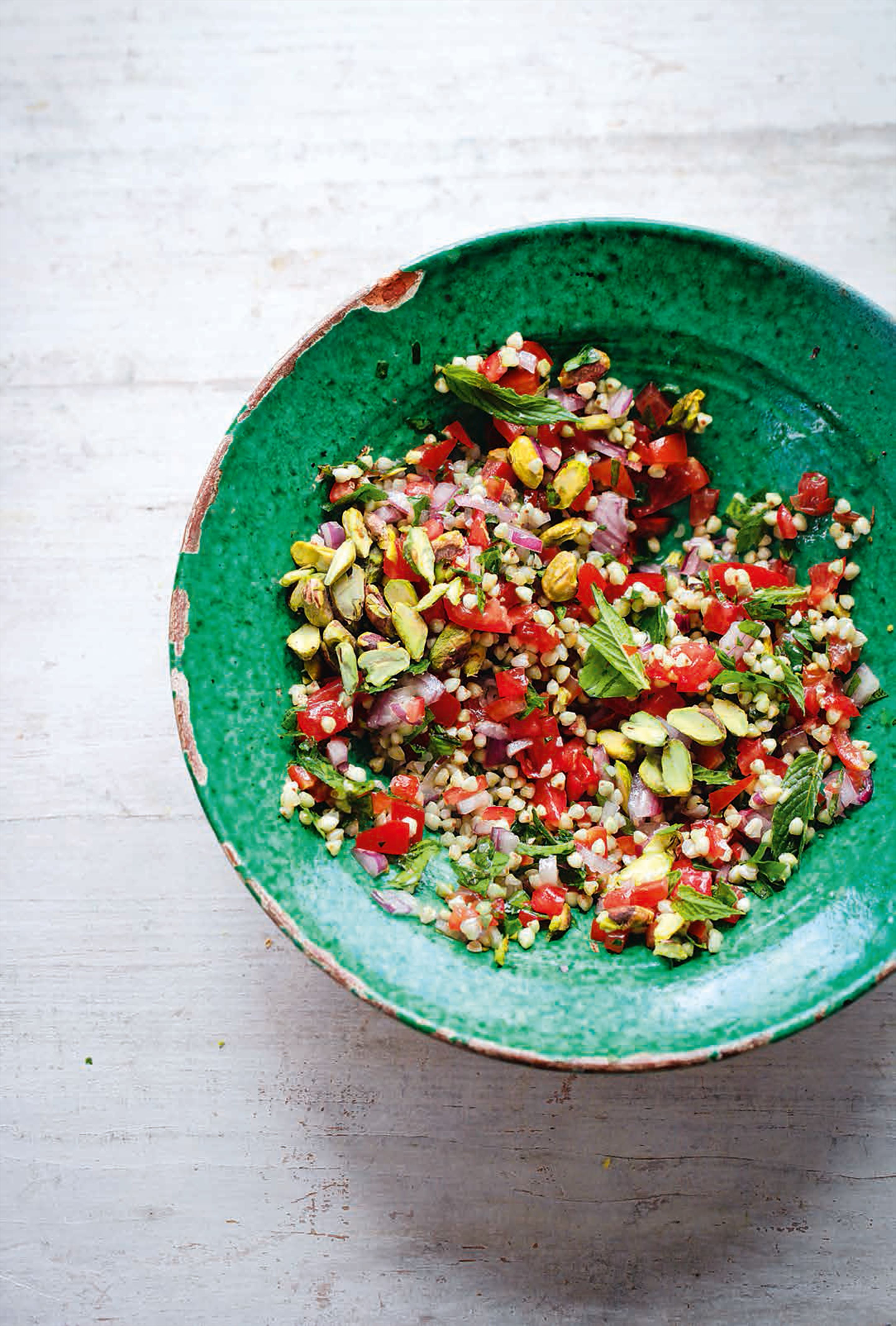 Tabouleh with pistachio
