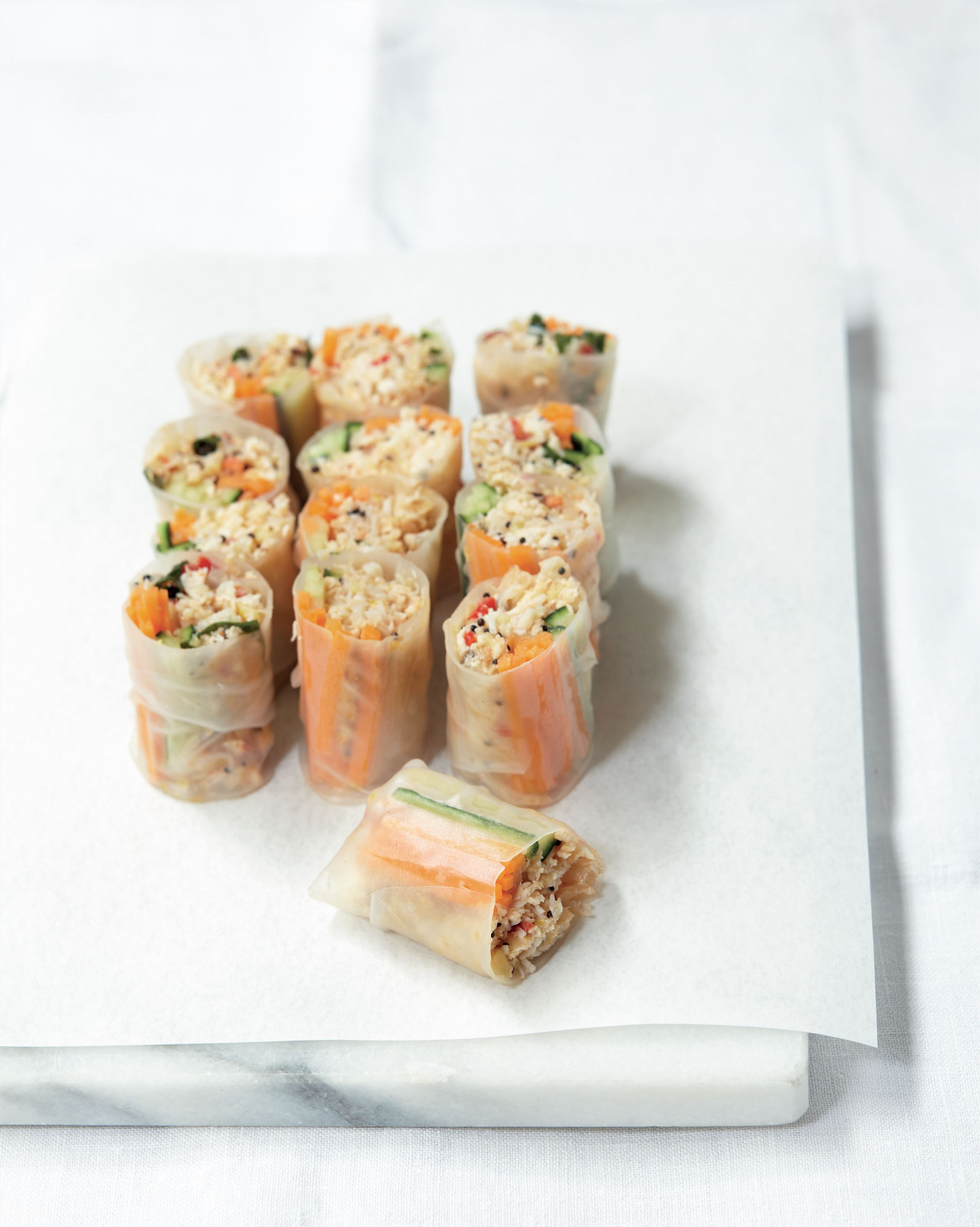 Southern-spiced Vietnamese crab spring rolls