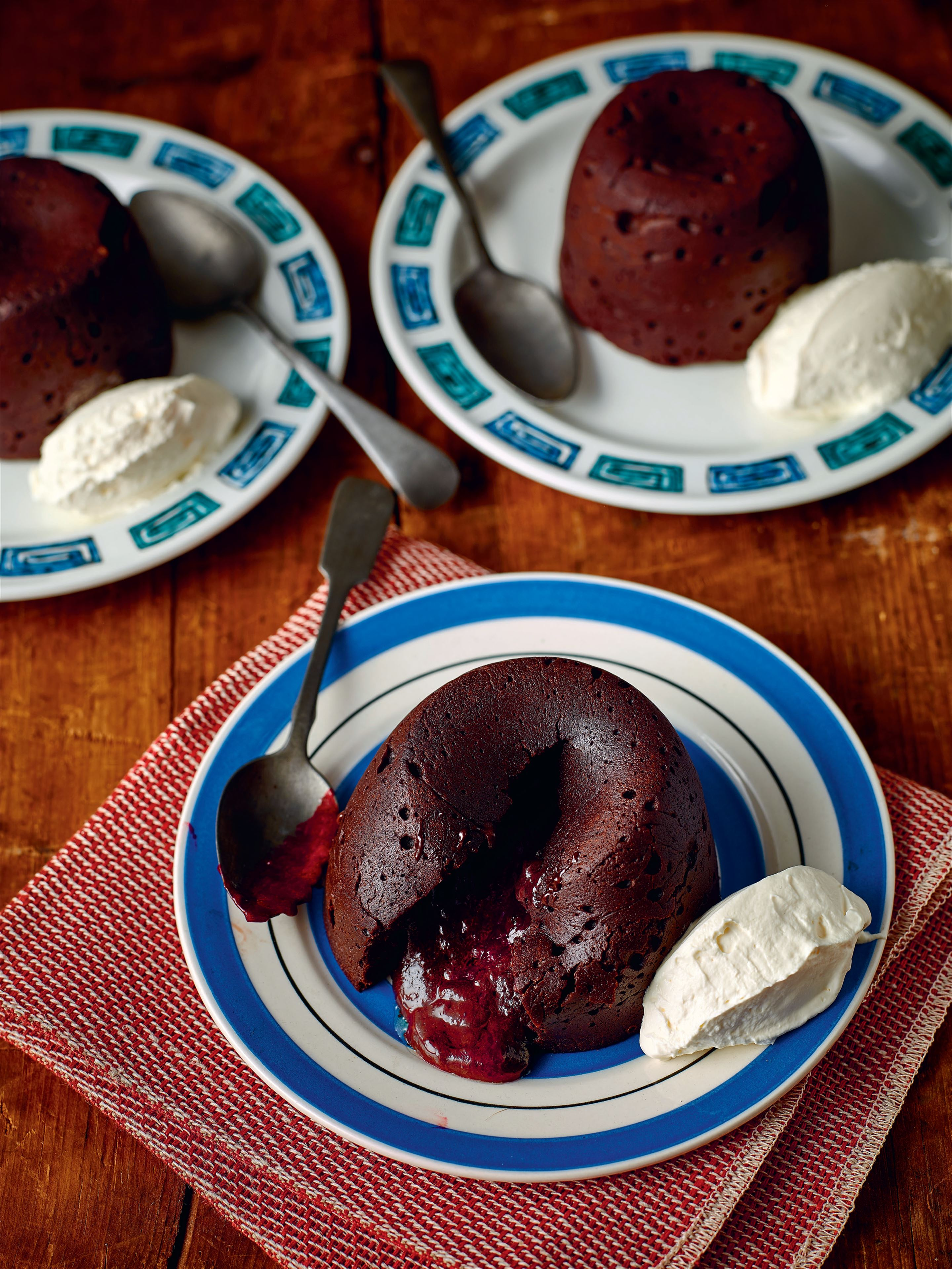 Chocolate oozing puddings