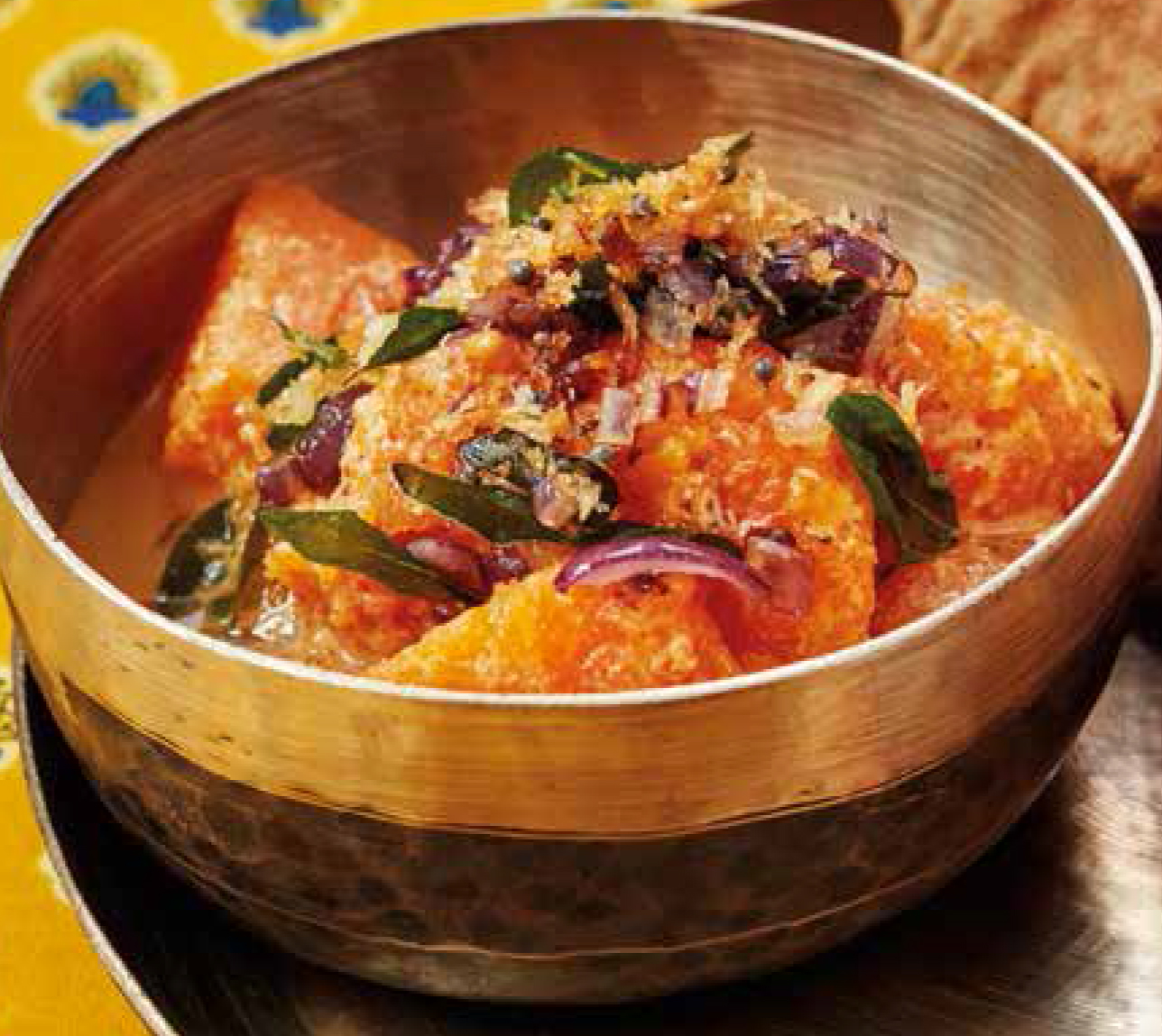 Pumpkin and coconut curry