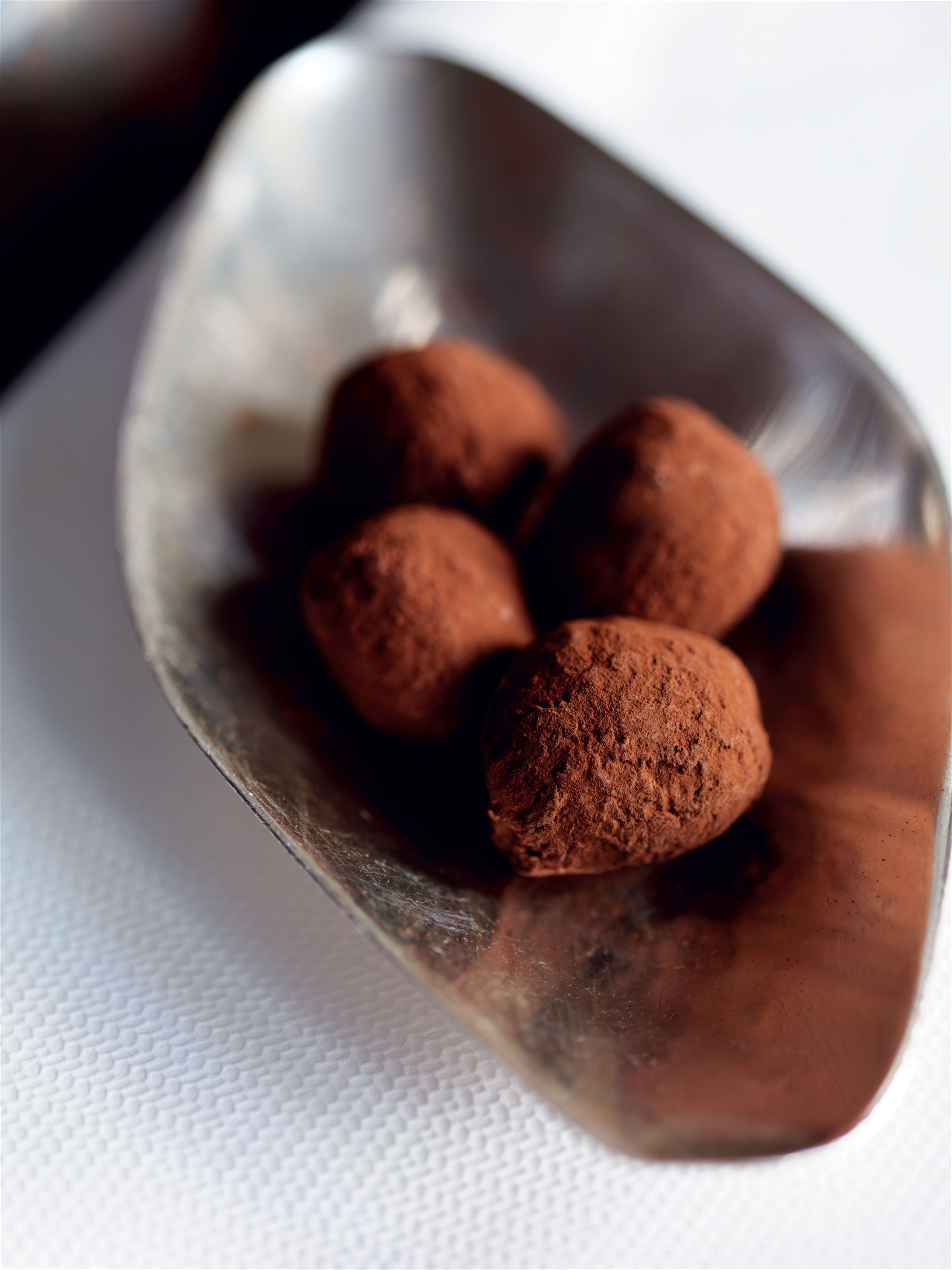 Venezuelan black and cider brandy truffles