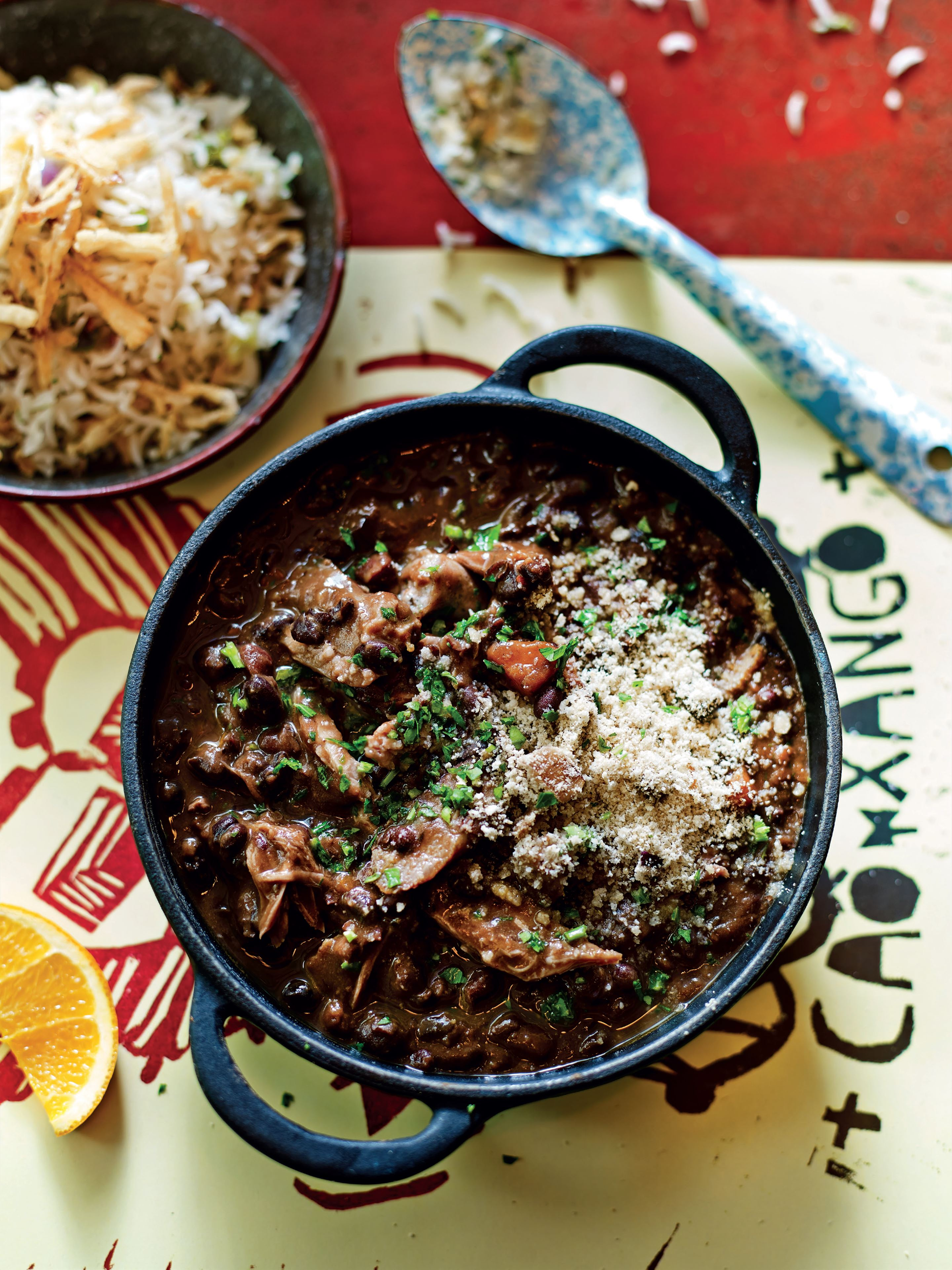Pulled pork feijoada