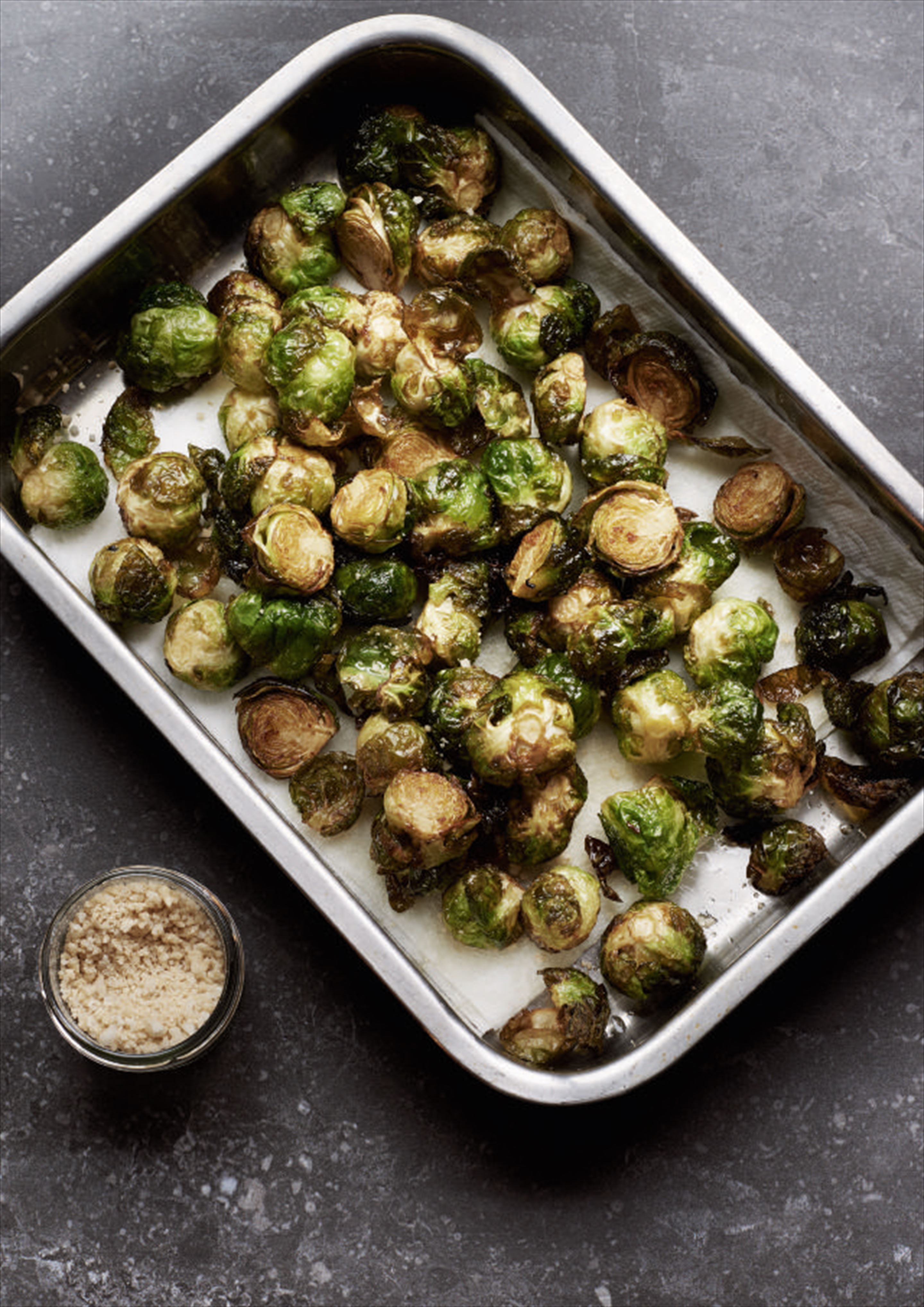 Deep-fried Brussels sprouts