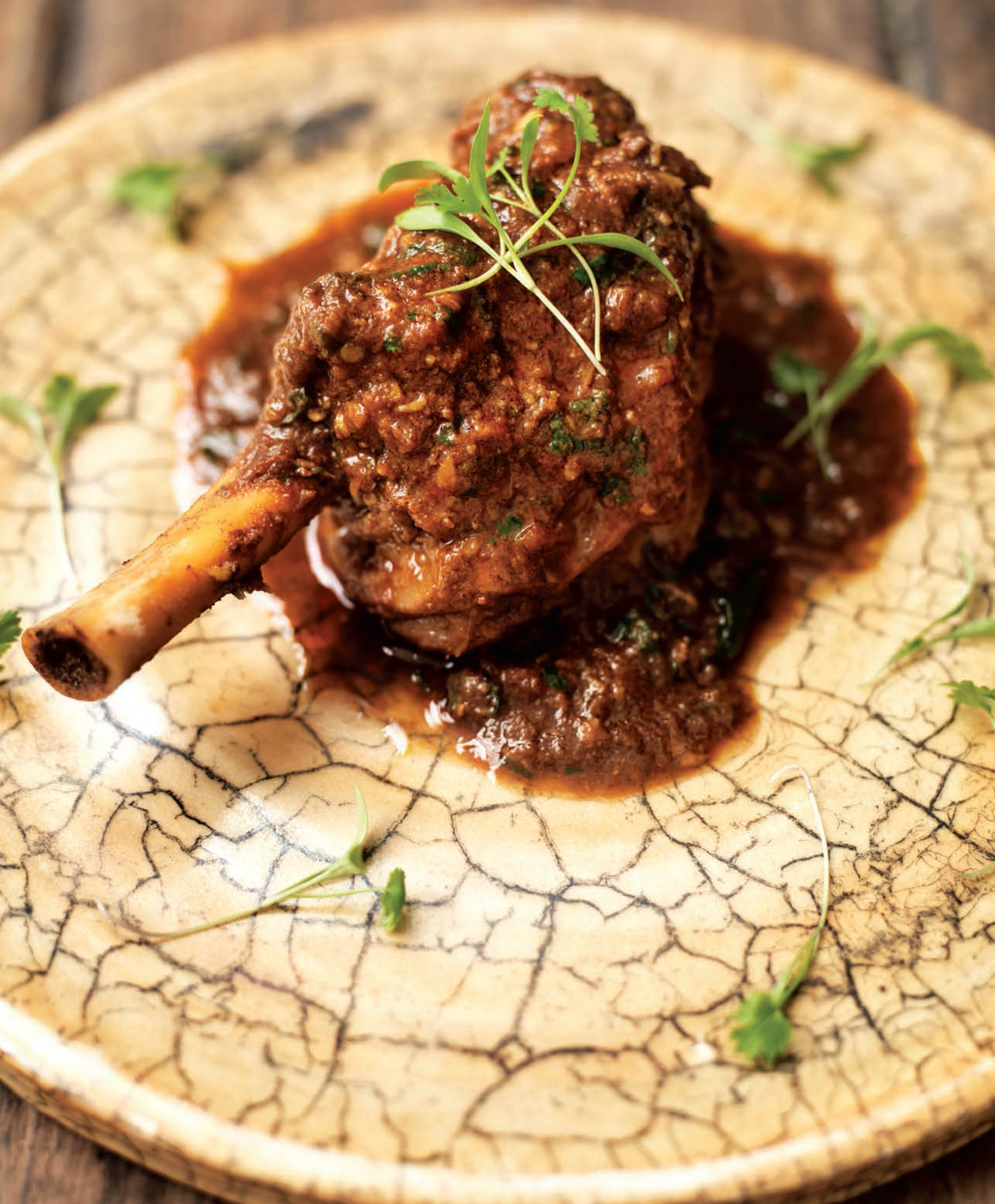 Punjabi lamb shank (North India)