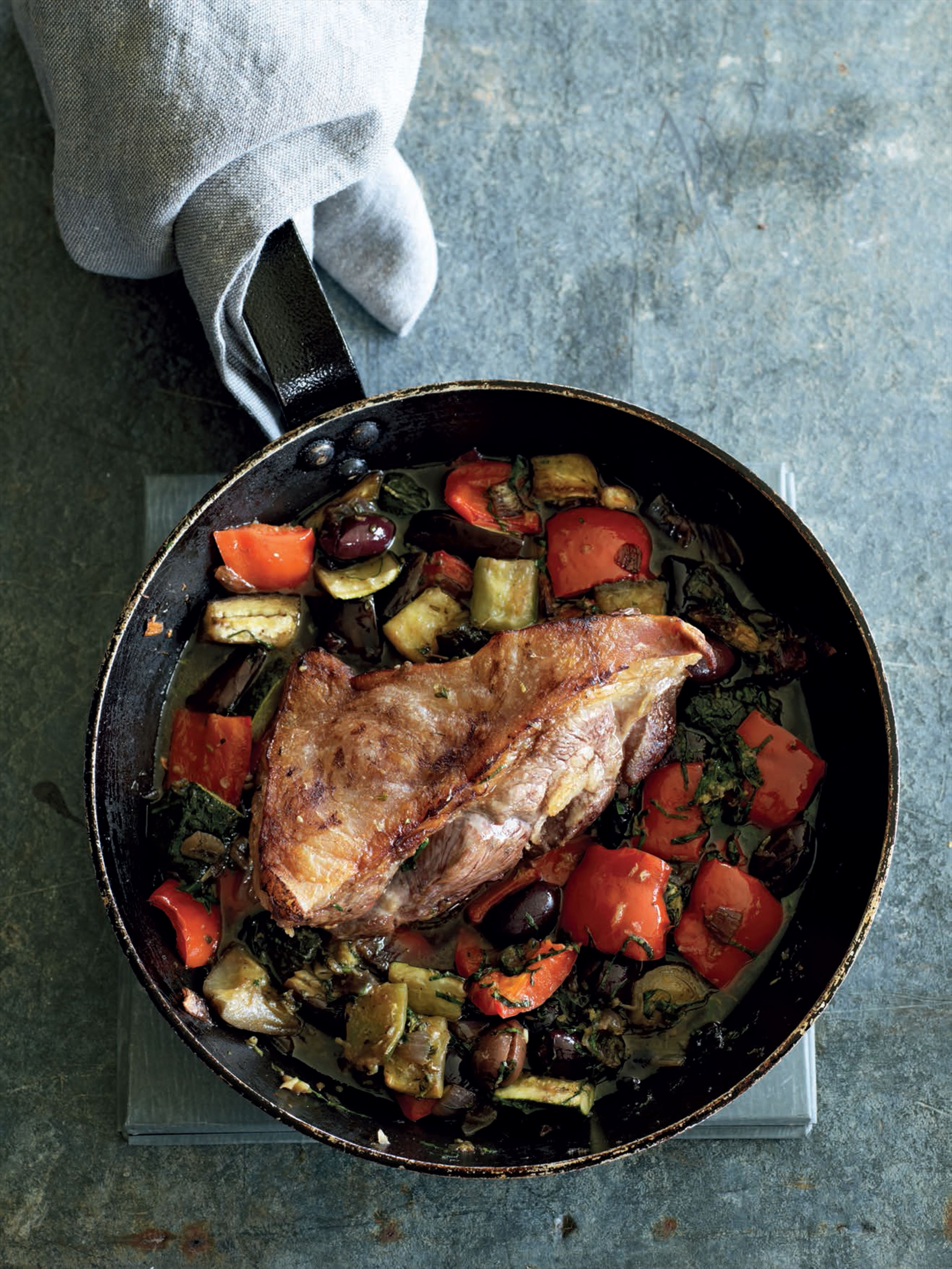 Rump of lamb with provençal vegetables