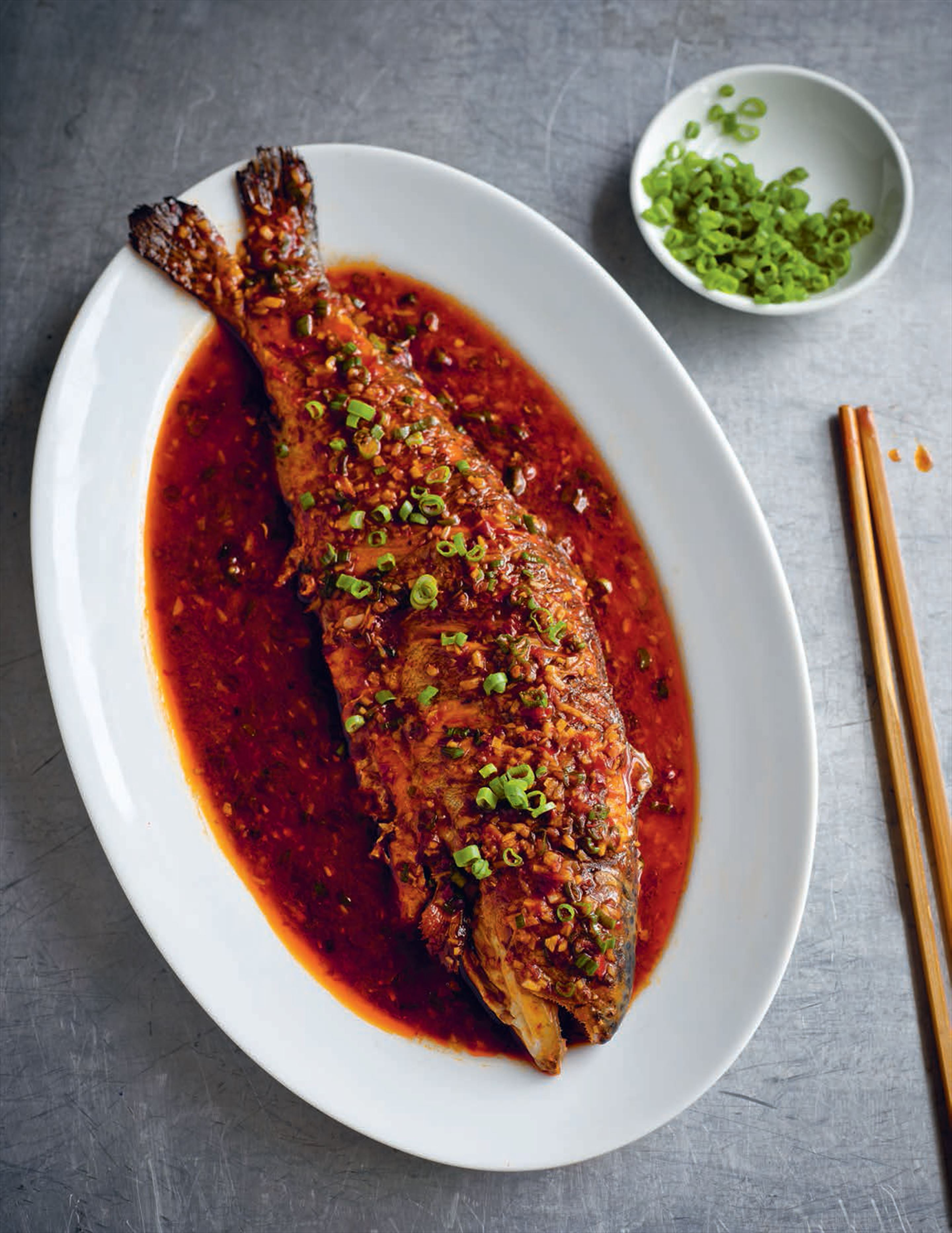 Braised trout in chilli bean sauce
