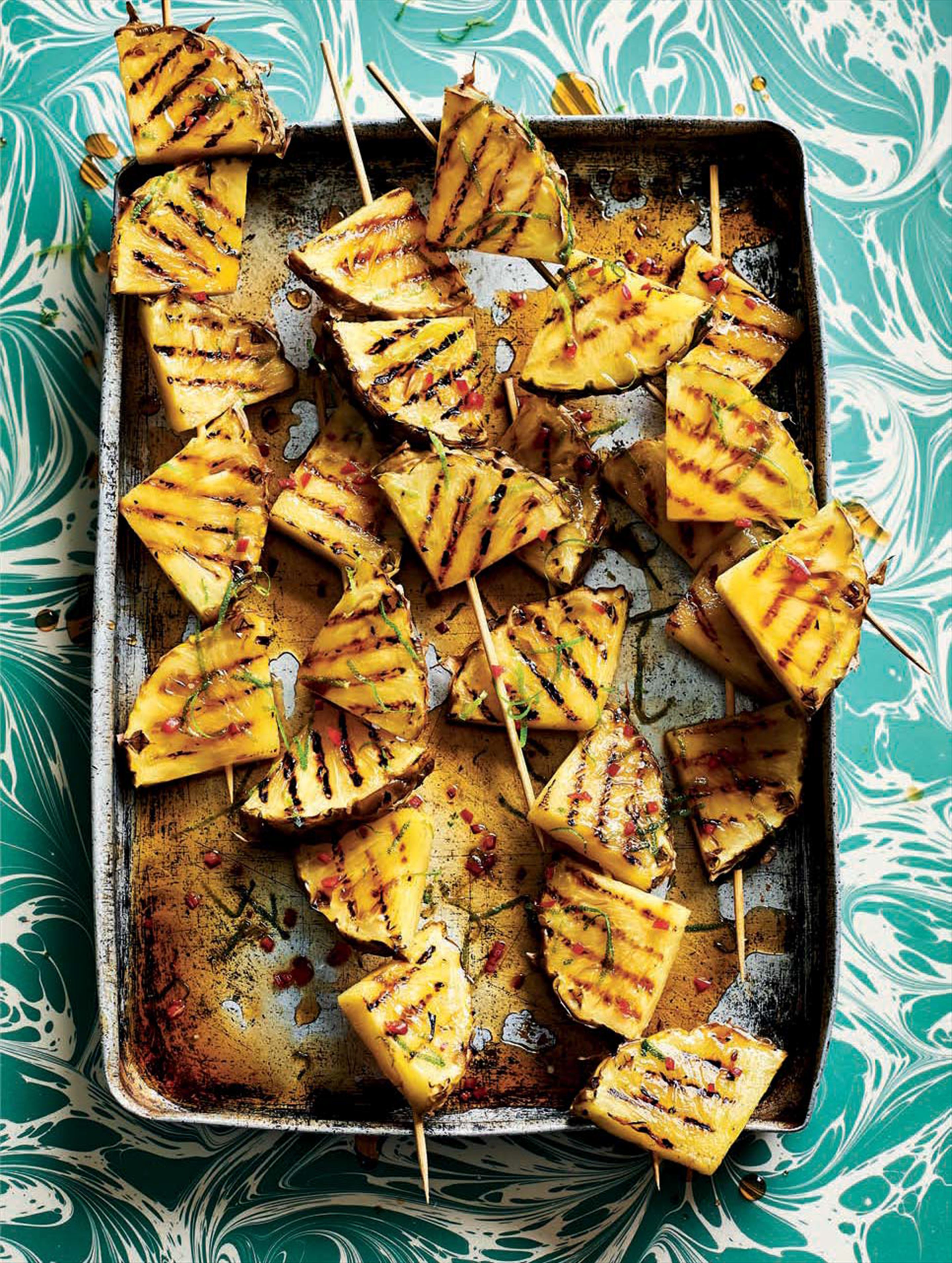 Lime & chilli griddled pineapple