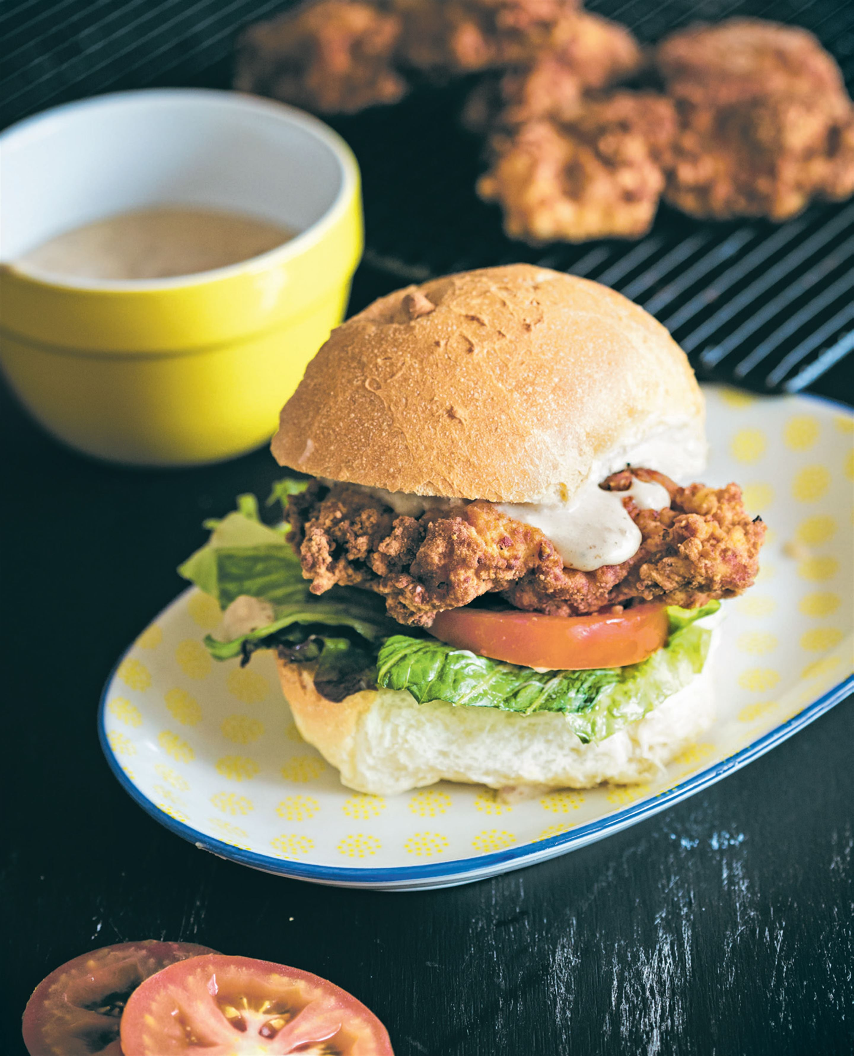Chicken-fried chicken sandwich