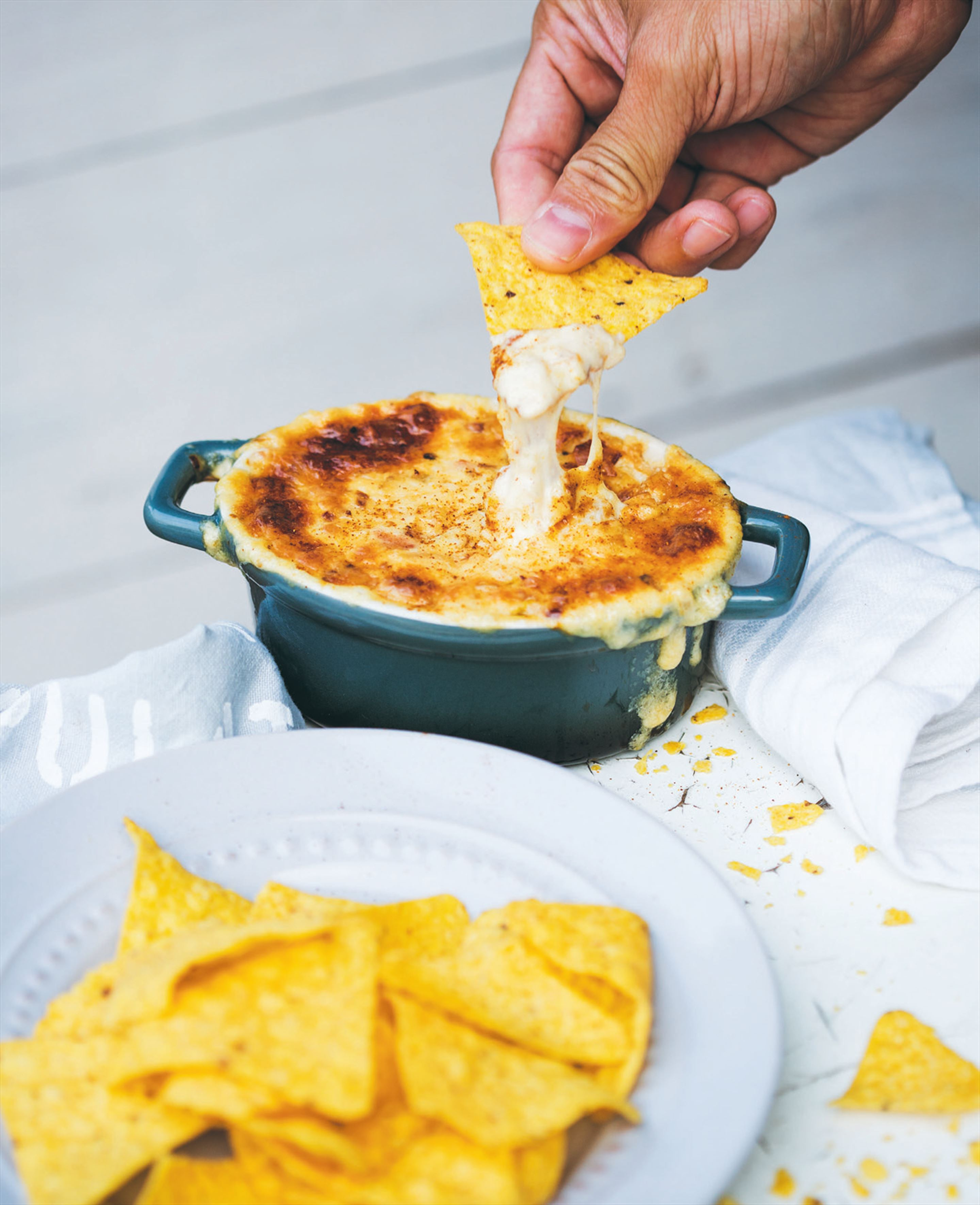 Cheesy bacon and leek dip