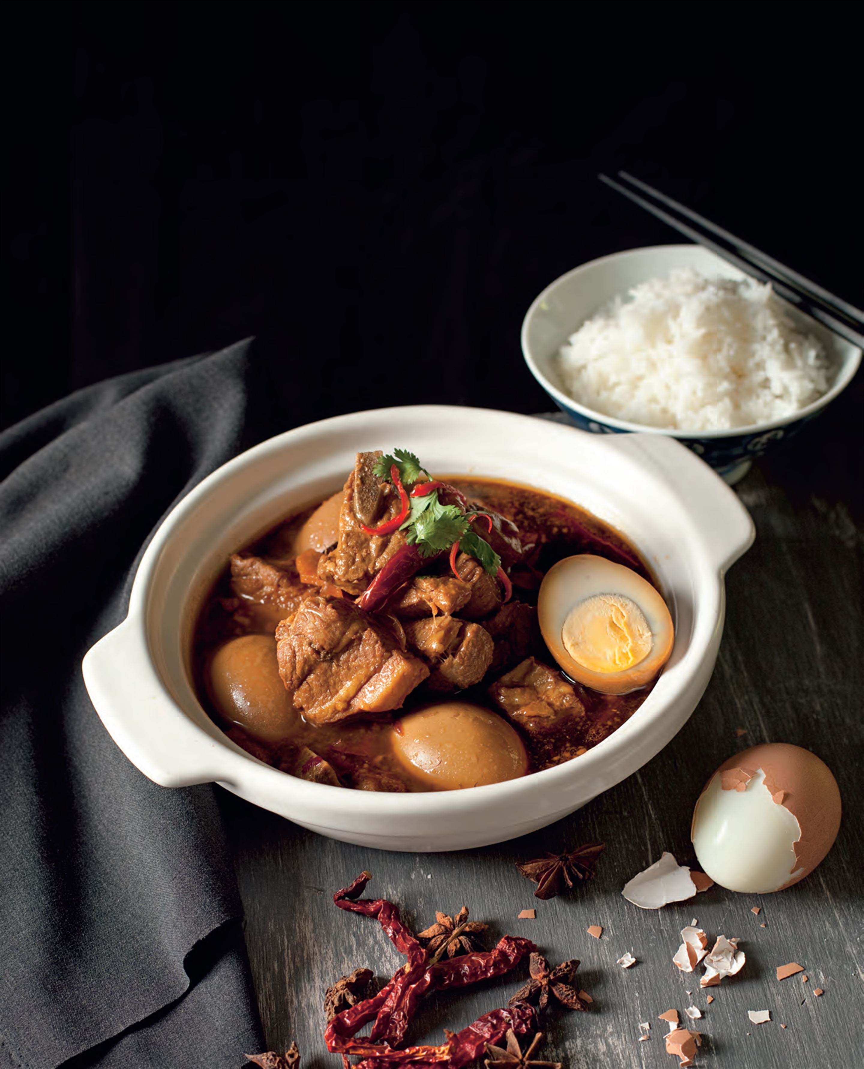 Mum's vinegar-braised pork belly and eggs