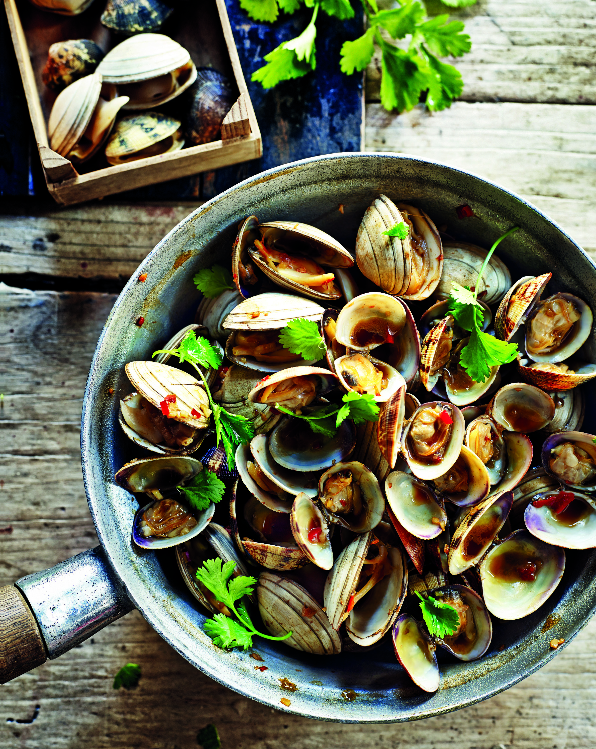 Chilli and garlic 'wealthy' clams