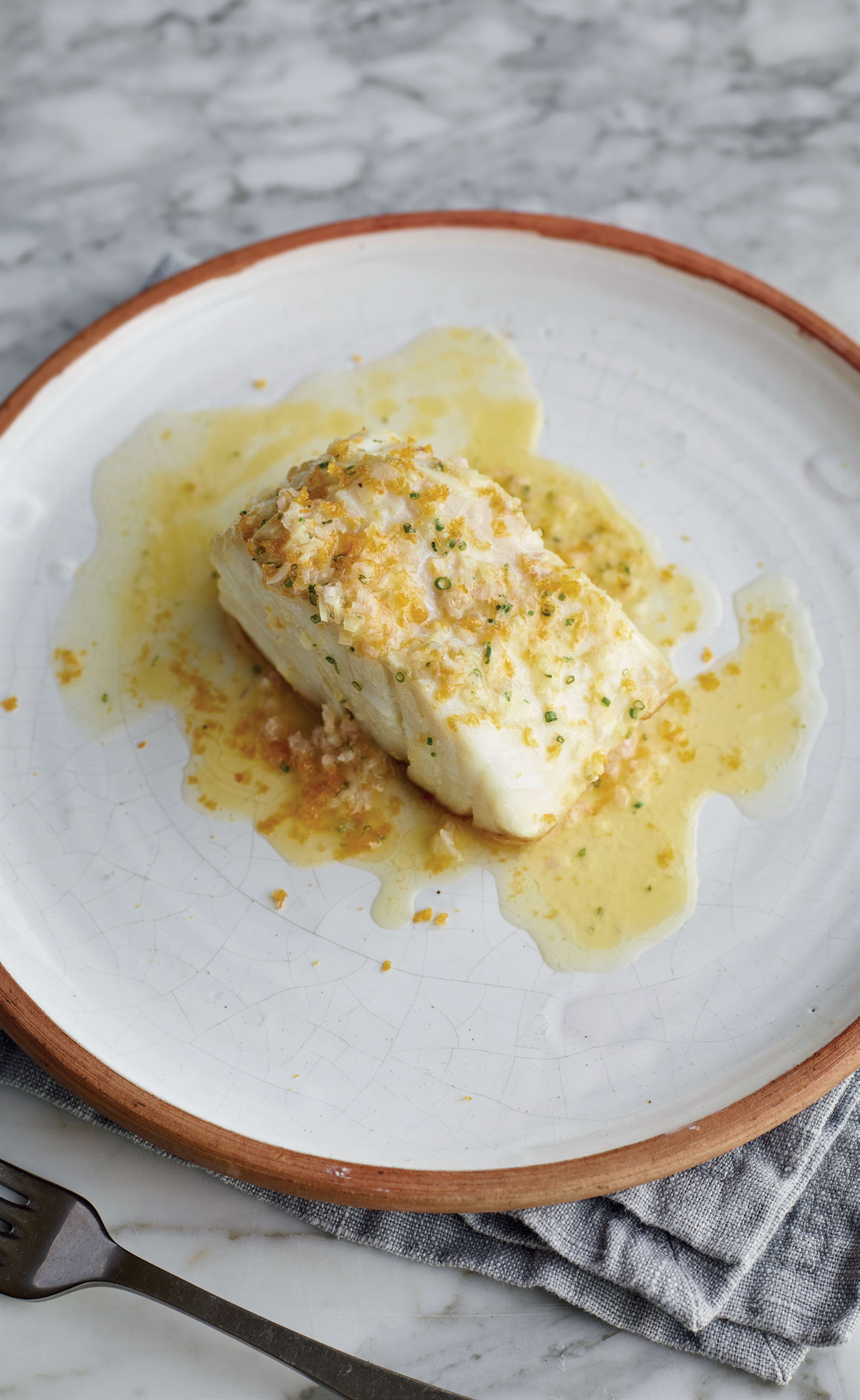 Cod with bottarga butter