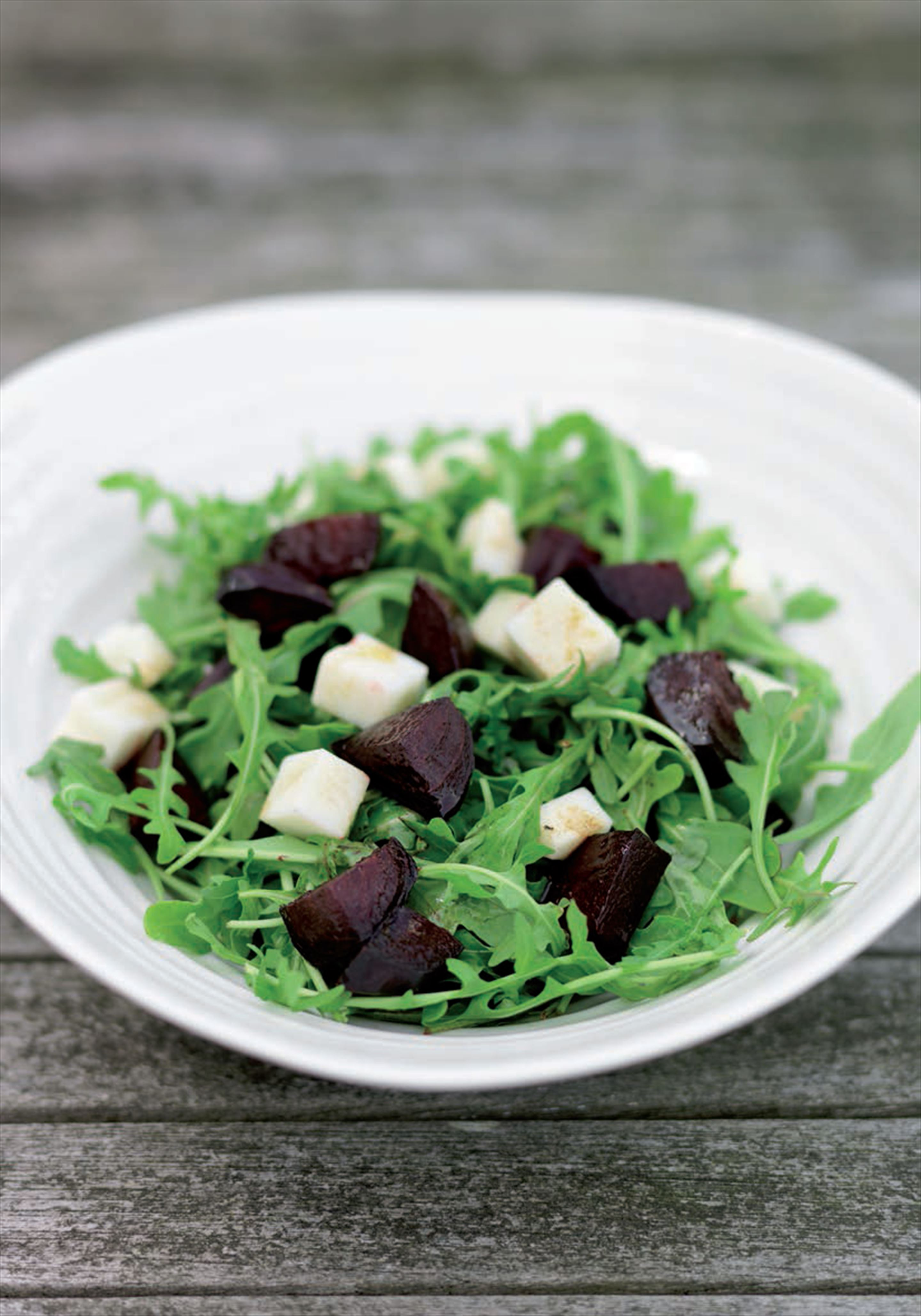 Roast beetroot with goat's cheese
