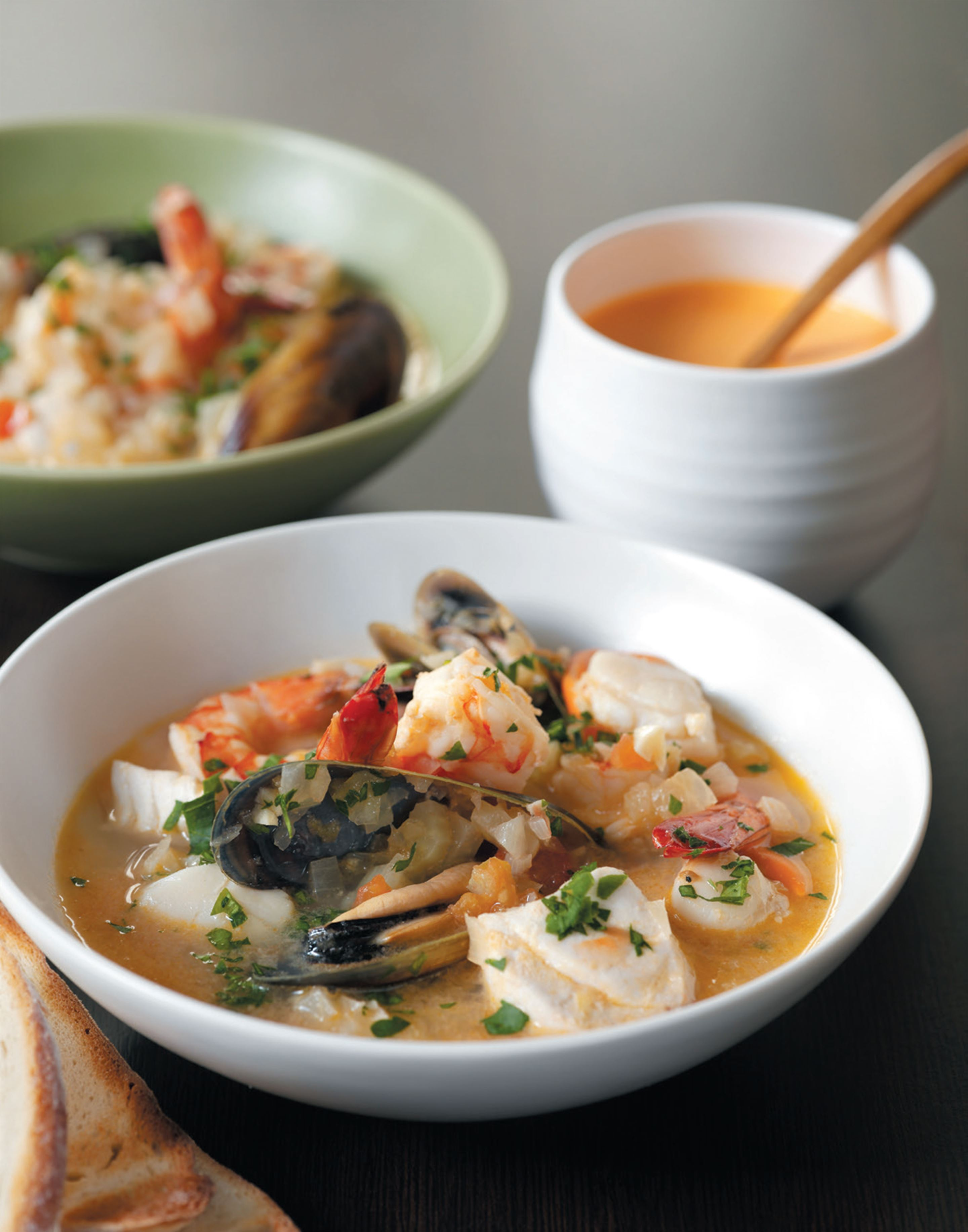 Fish stew with rouille sauce