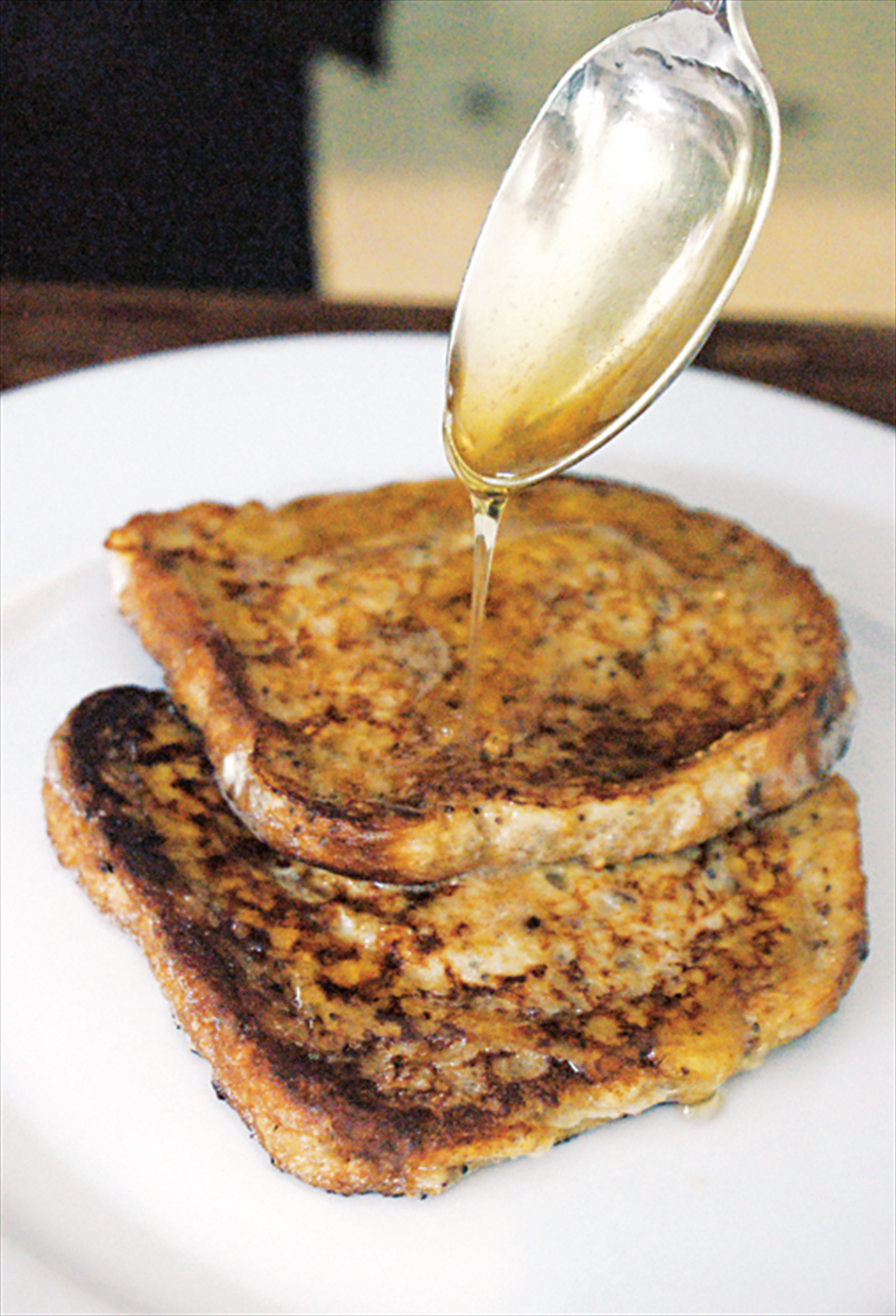 Eggy bread with maple syrup