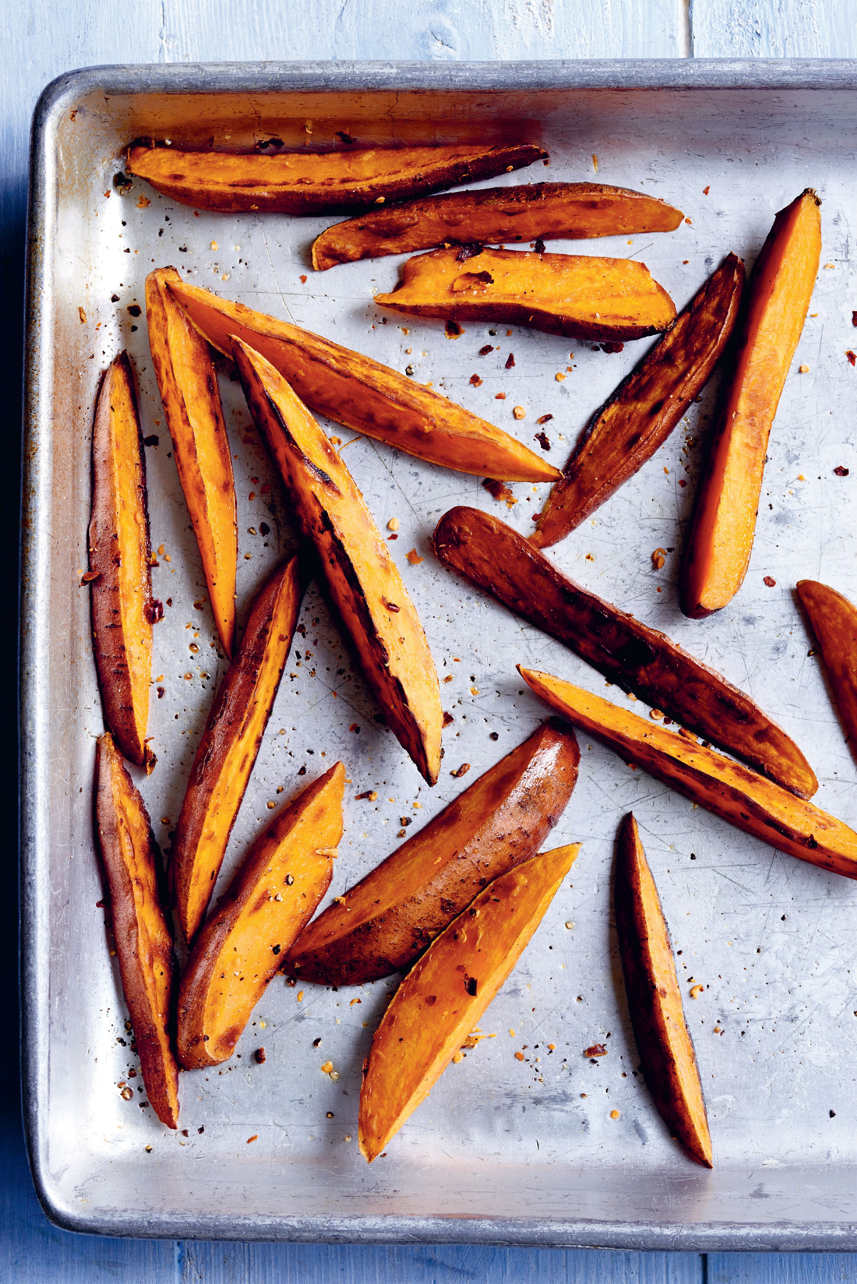 Roasted sweet potato wedges