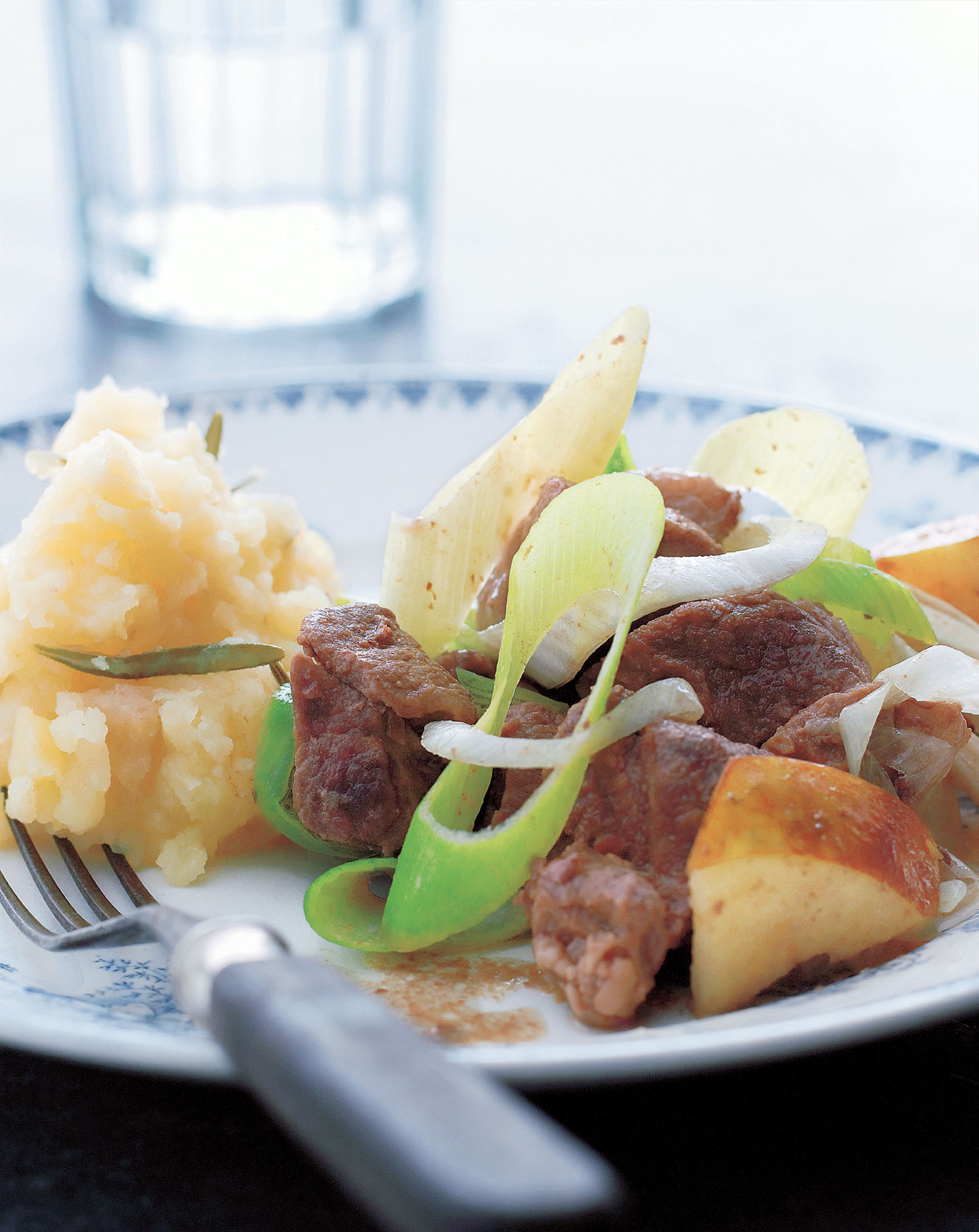 Lamb stew with rosemary mash