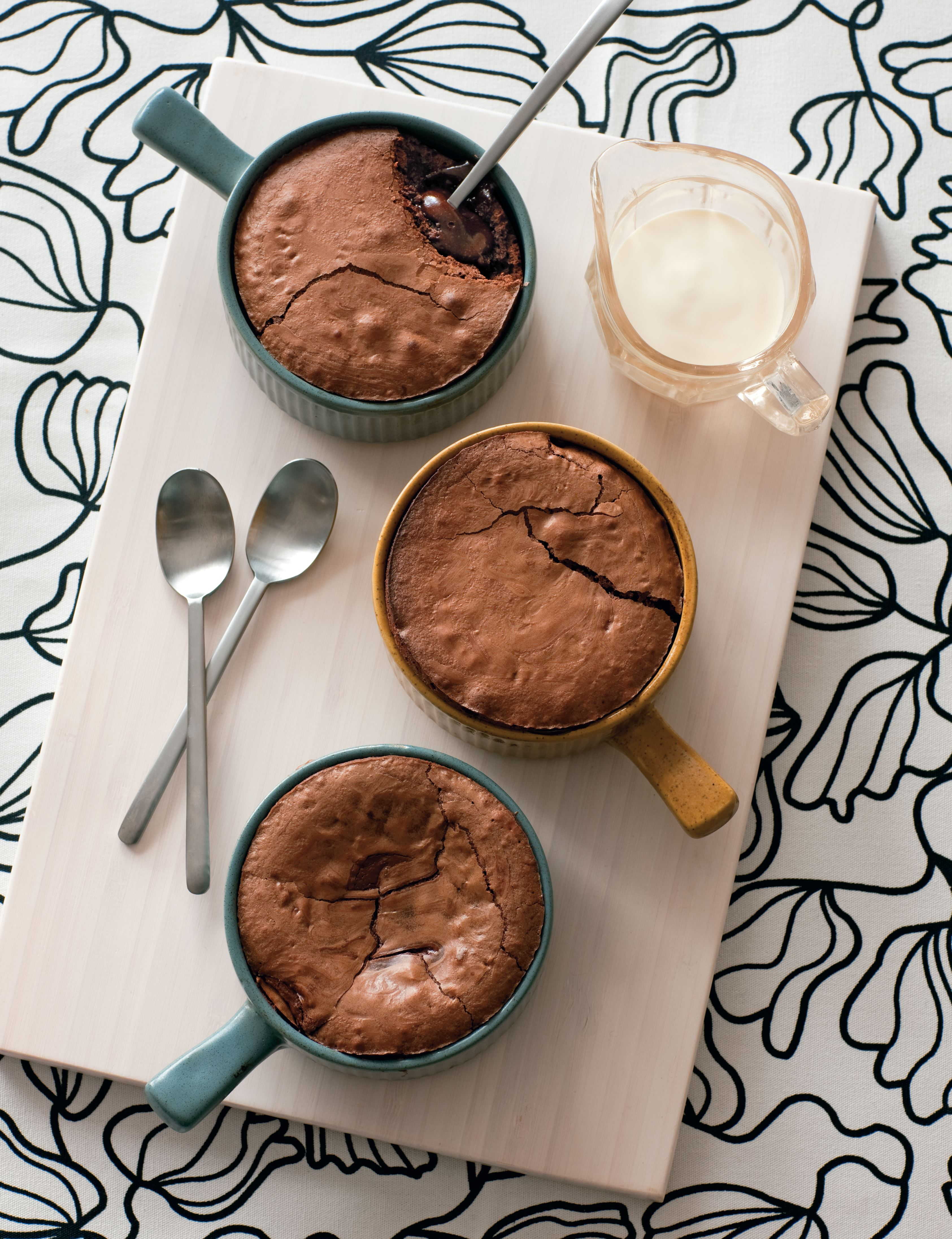 Molten chocolate puddings