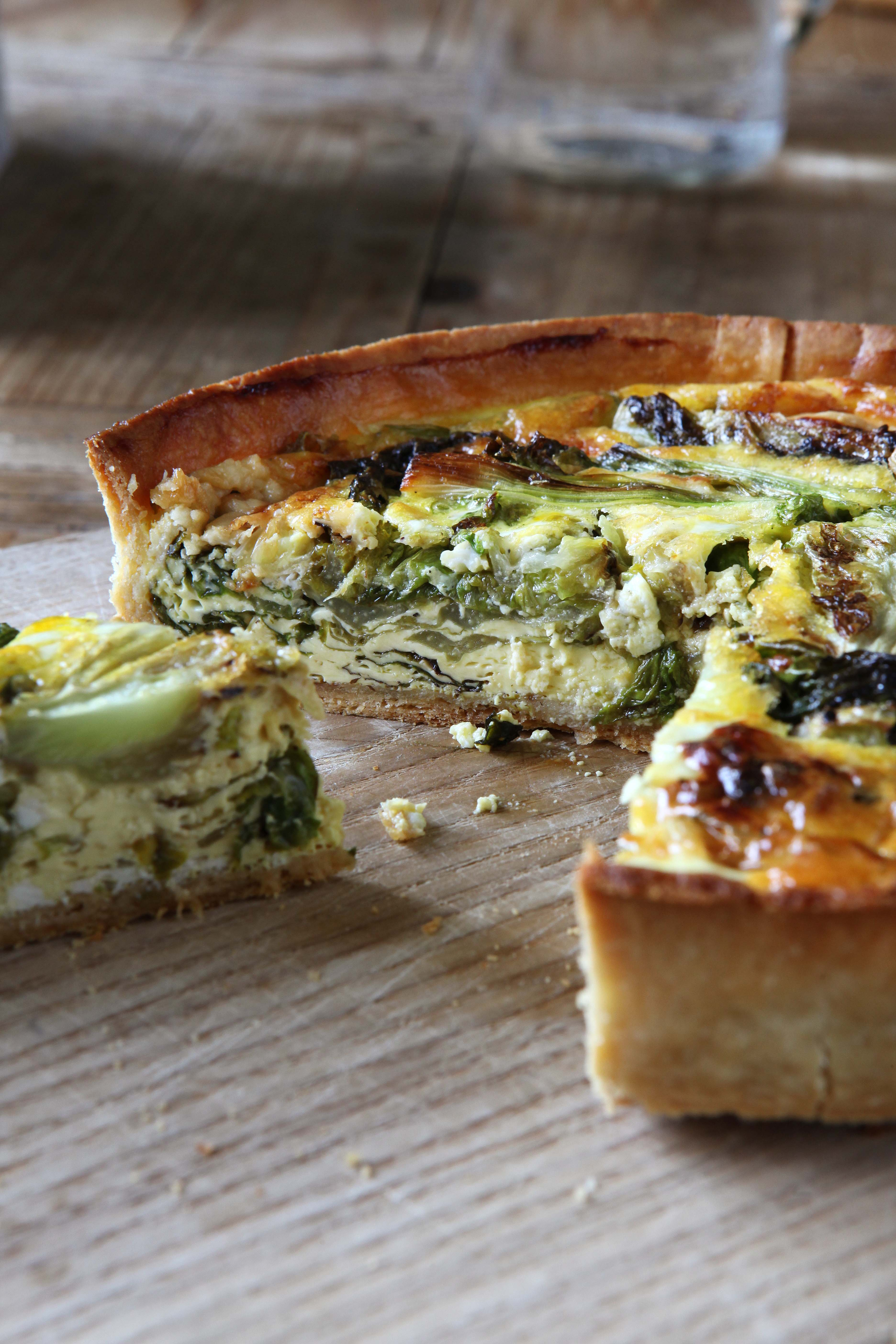River Cottage's Lettuce, spring onion and cheese tart
