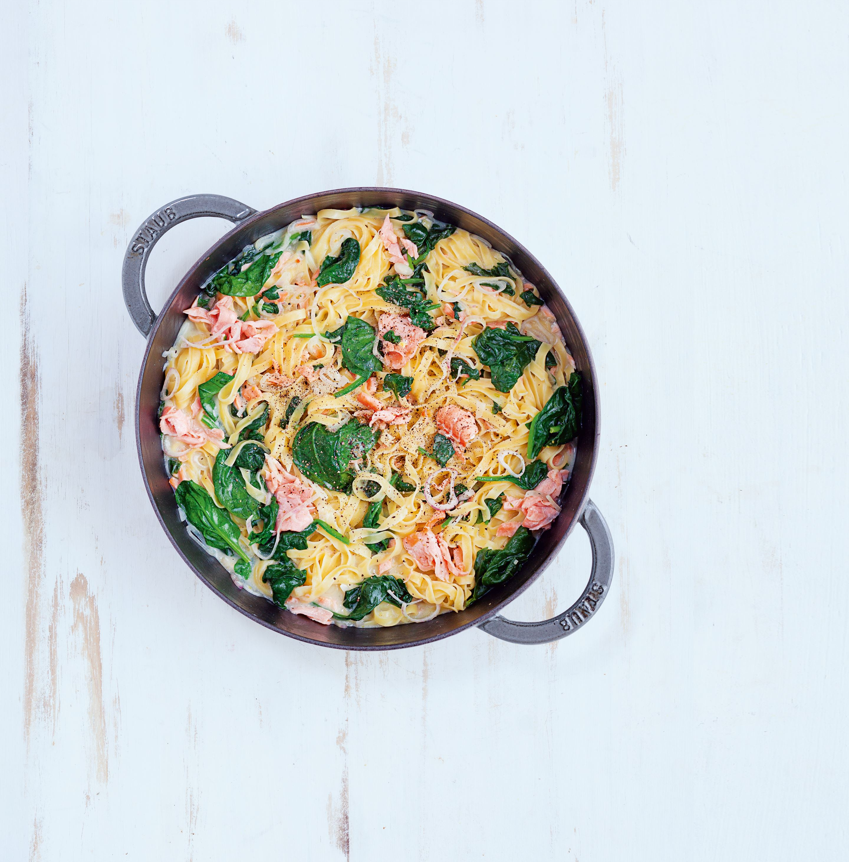 Spinach and smoked salmon
