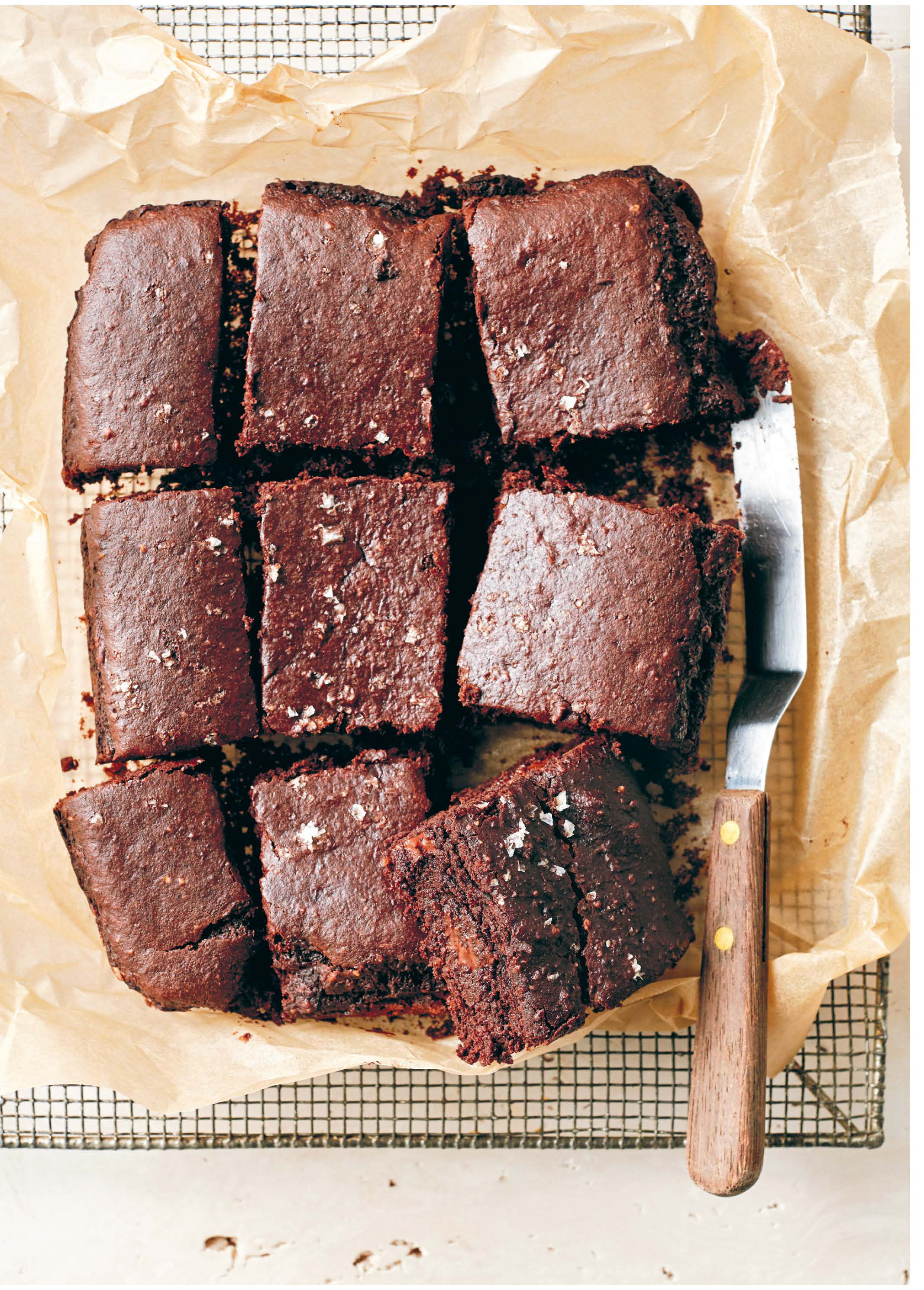 DOUBLE CHOC SEA SALT & HEMP SEED BROWNIES