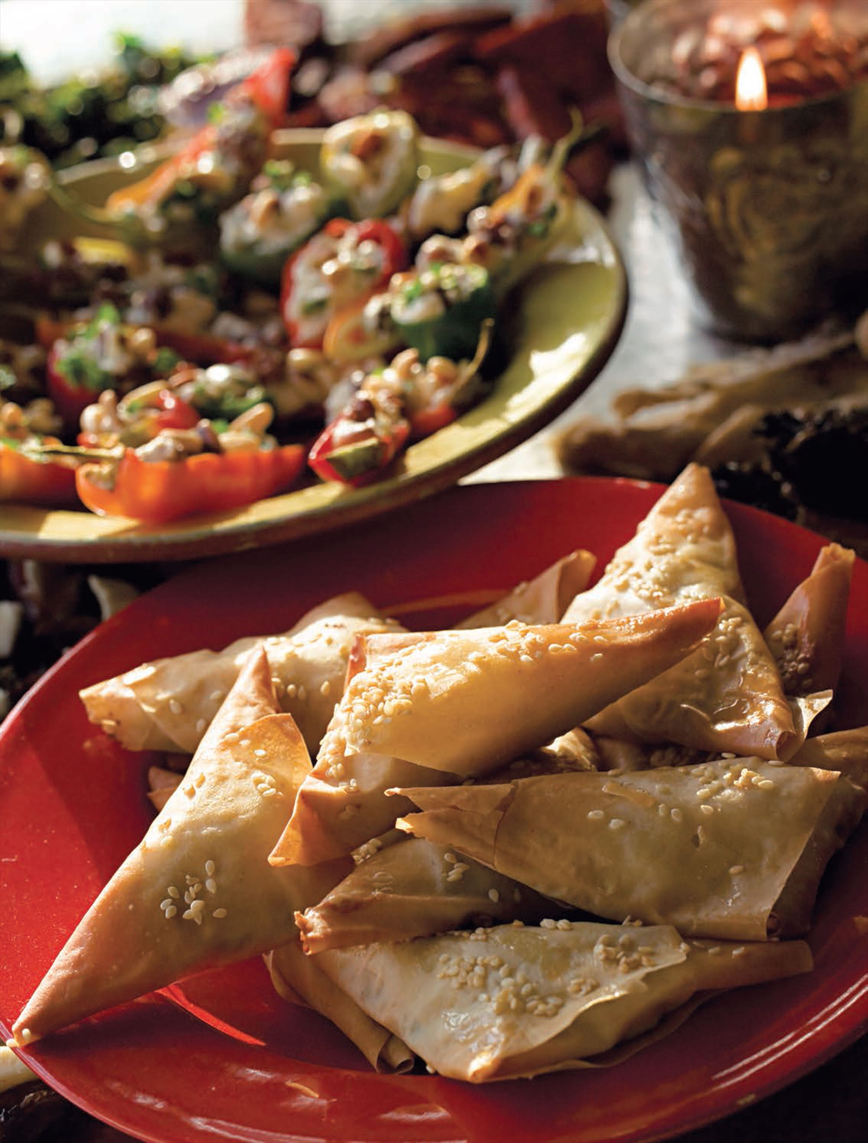 Chard and feta parcels