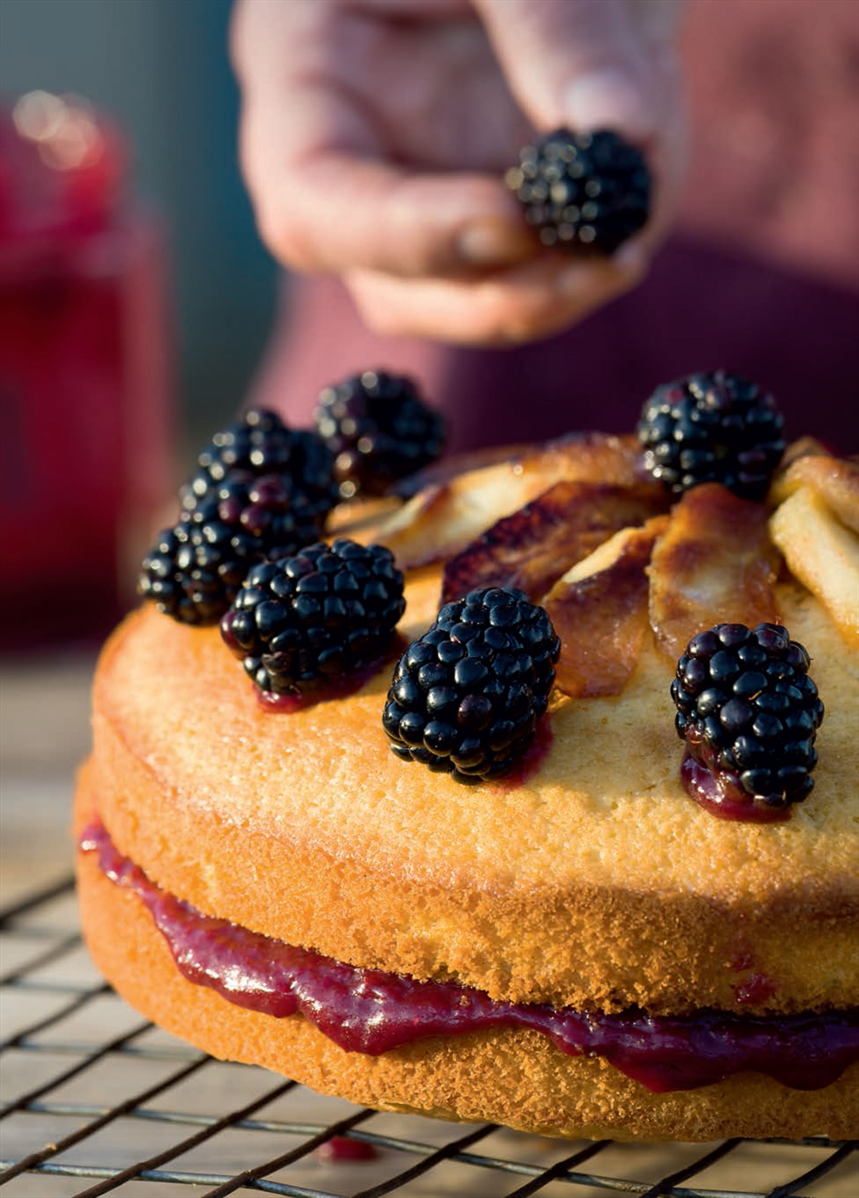 Victoria sponge with fruit curd
