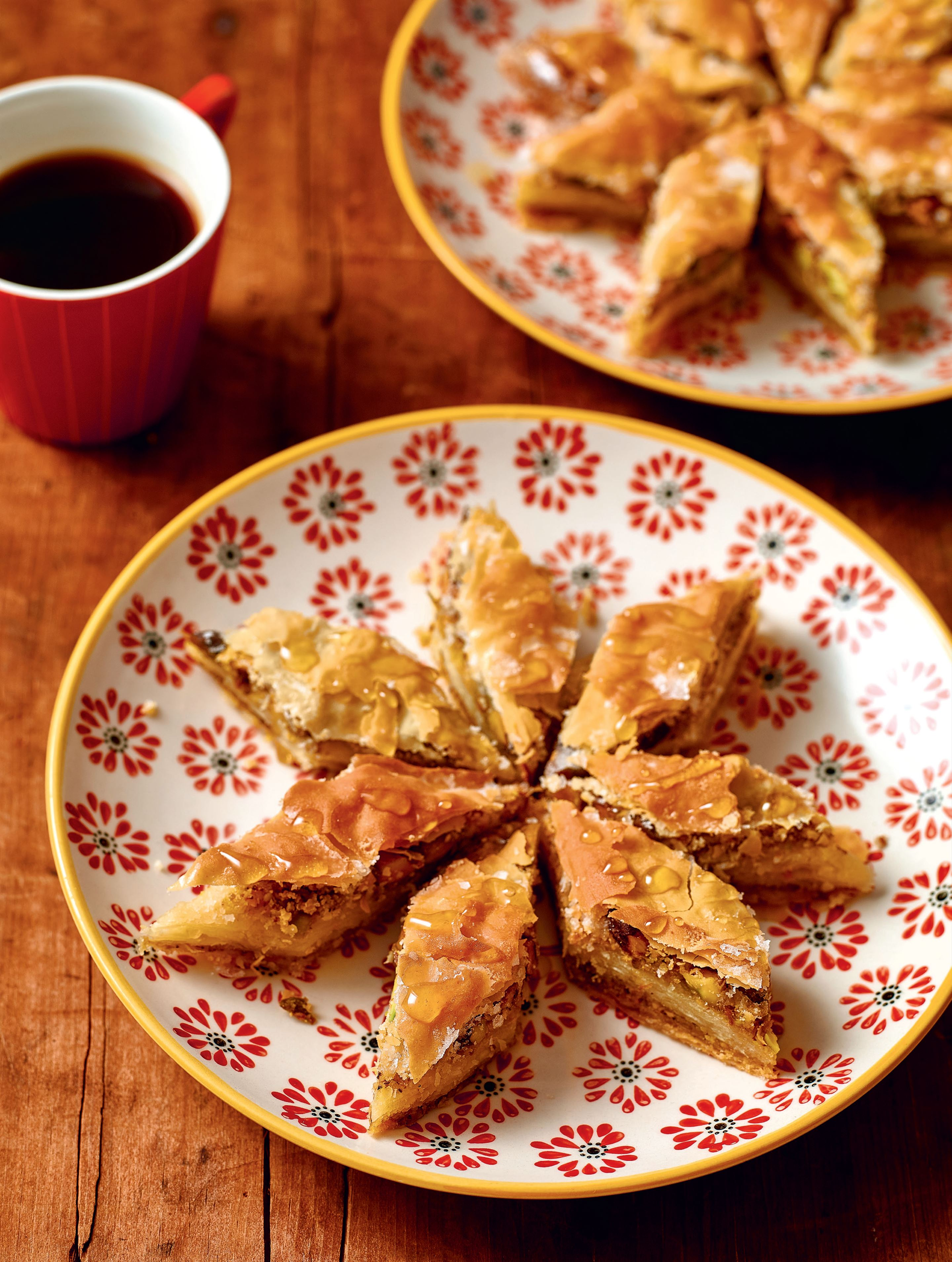 Rose and pistachio baklava