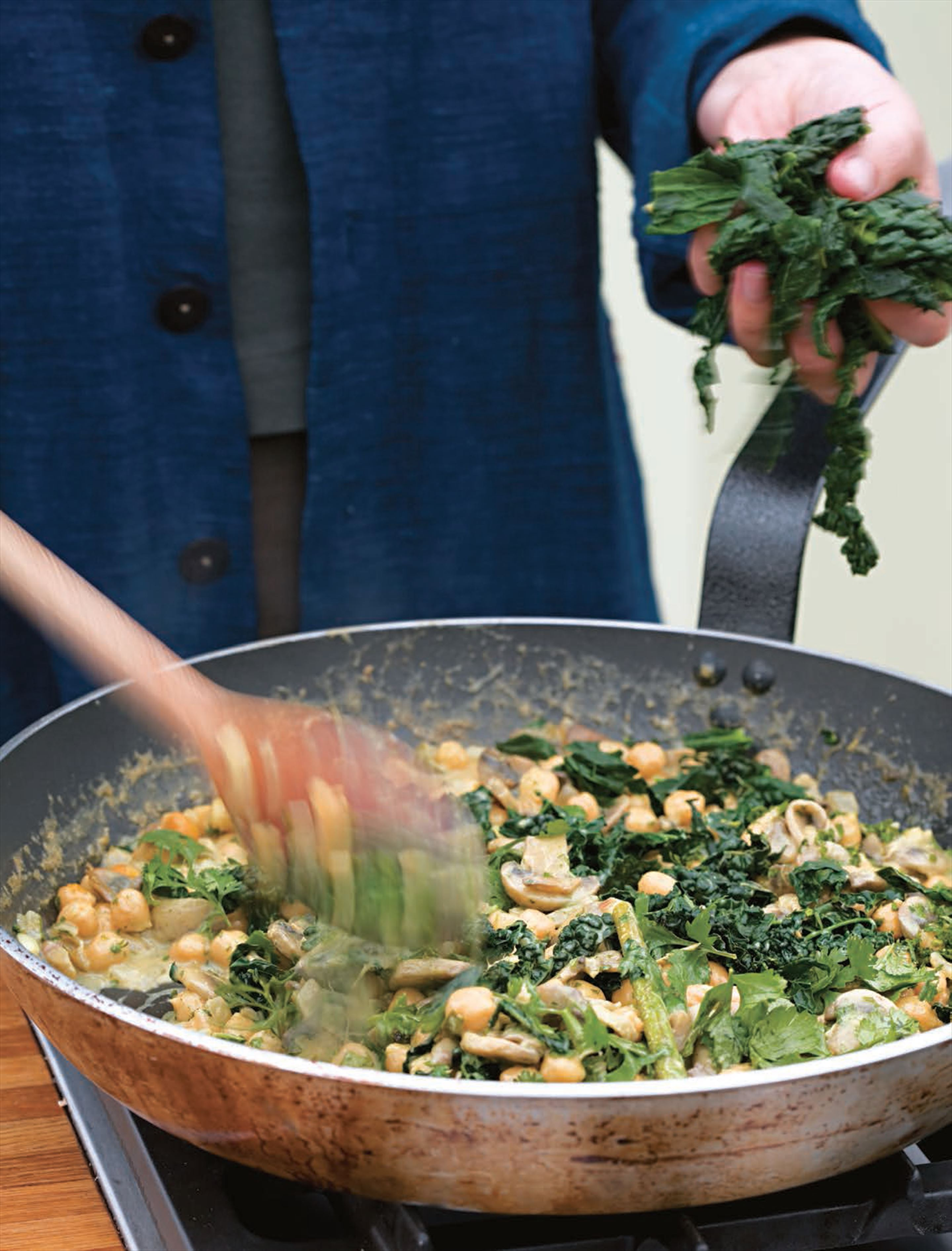 Kale and chickpea curry