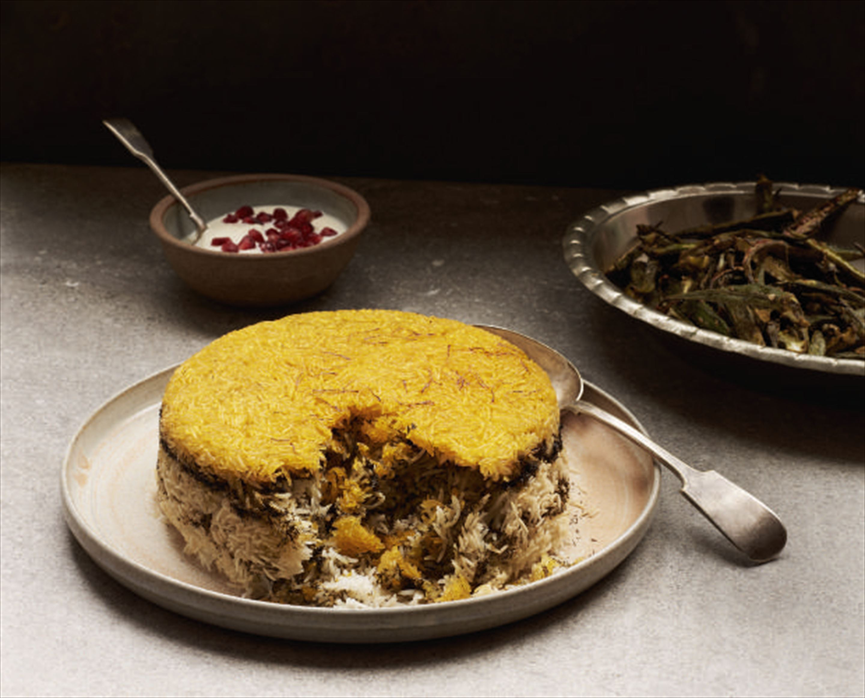 Crisp-bottomed Persian rice