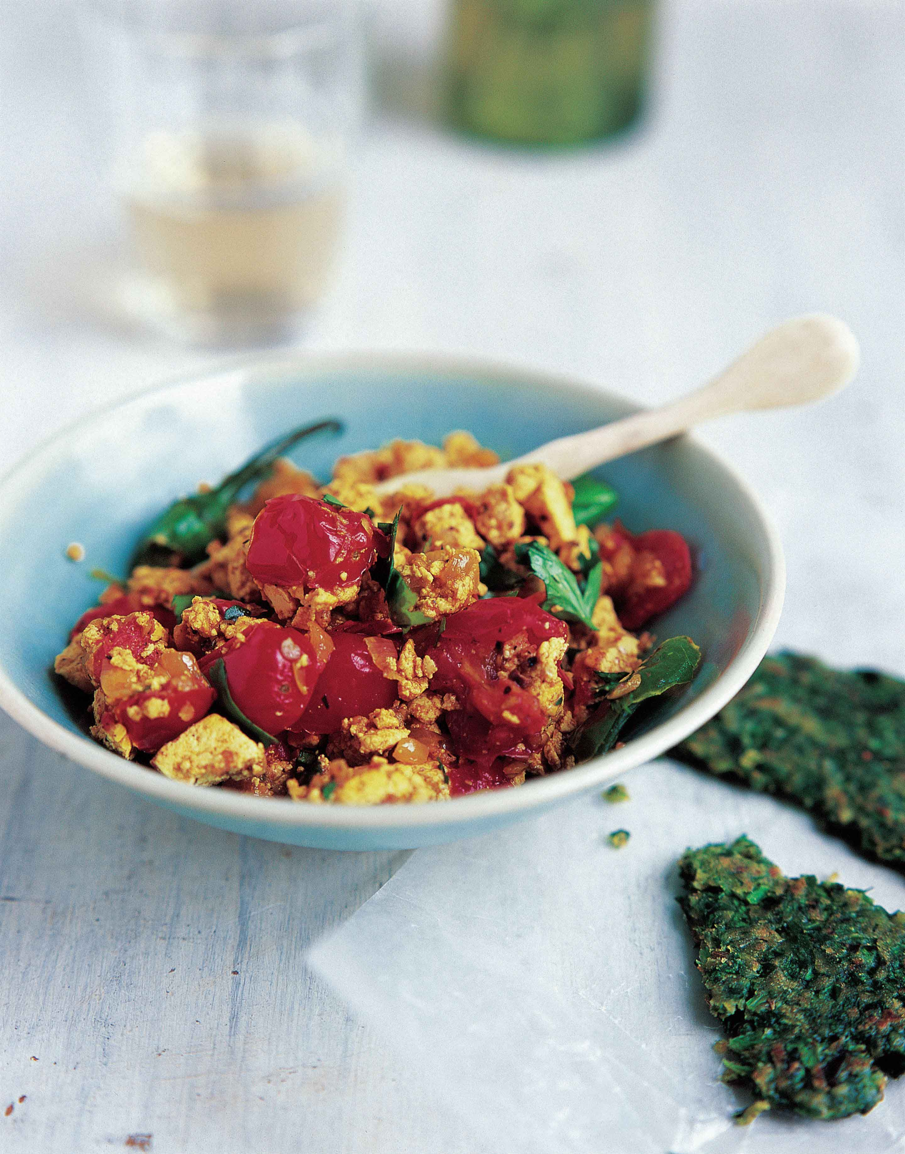 Spicy scrambled tofu