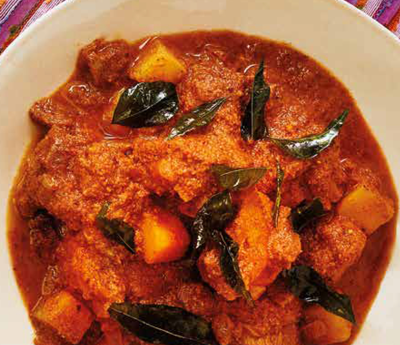 Goan mutton curry with roasted coconut and spices