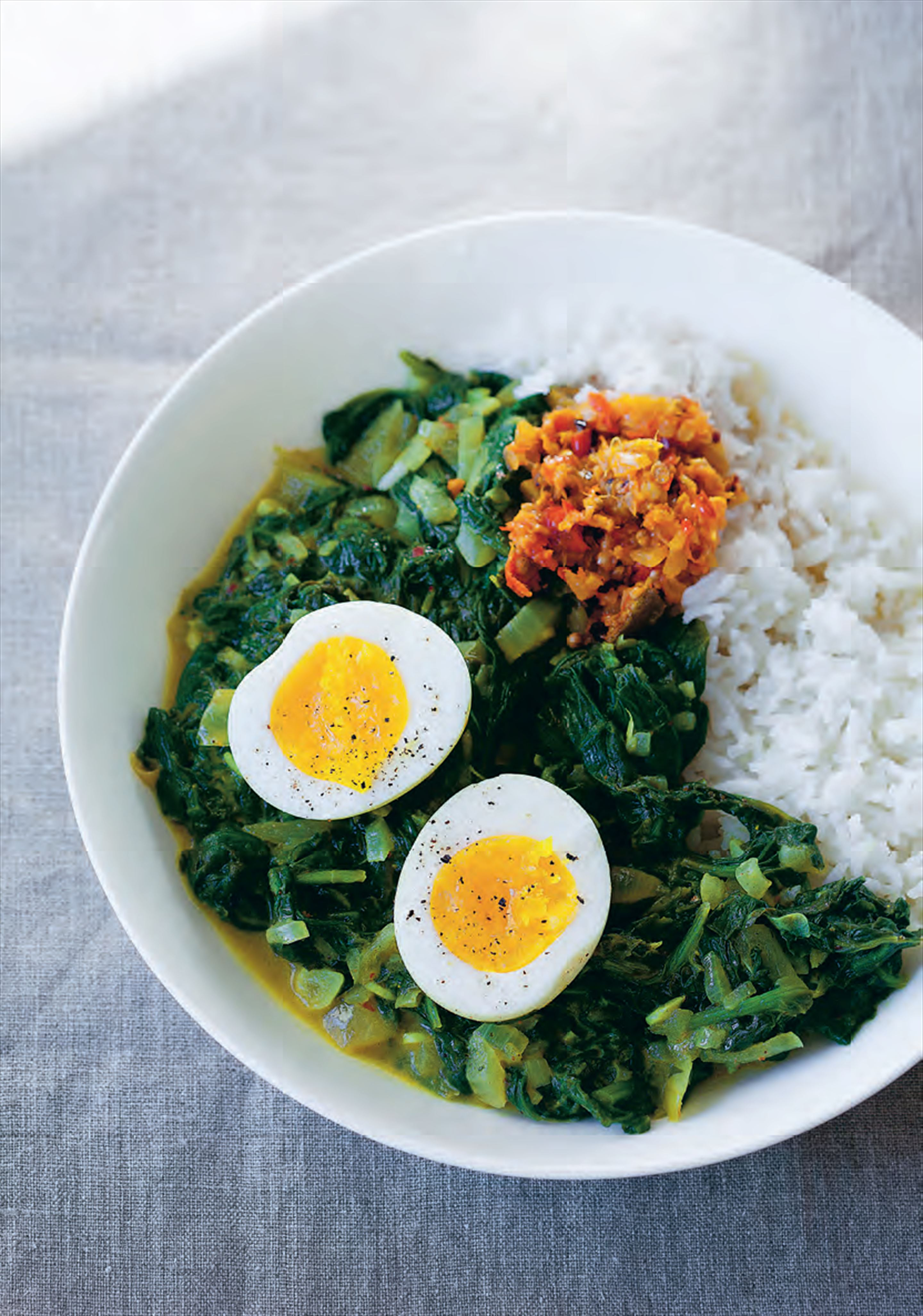 Egg, turmeric and coconut curry