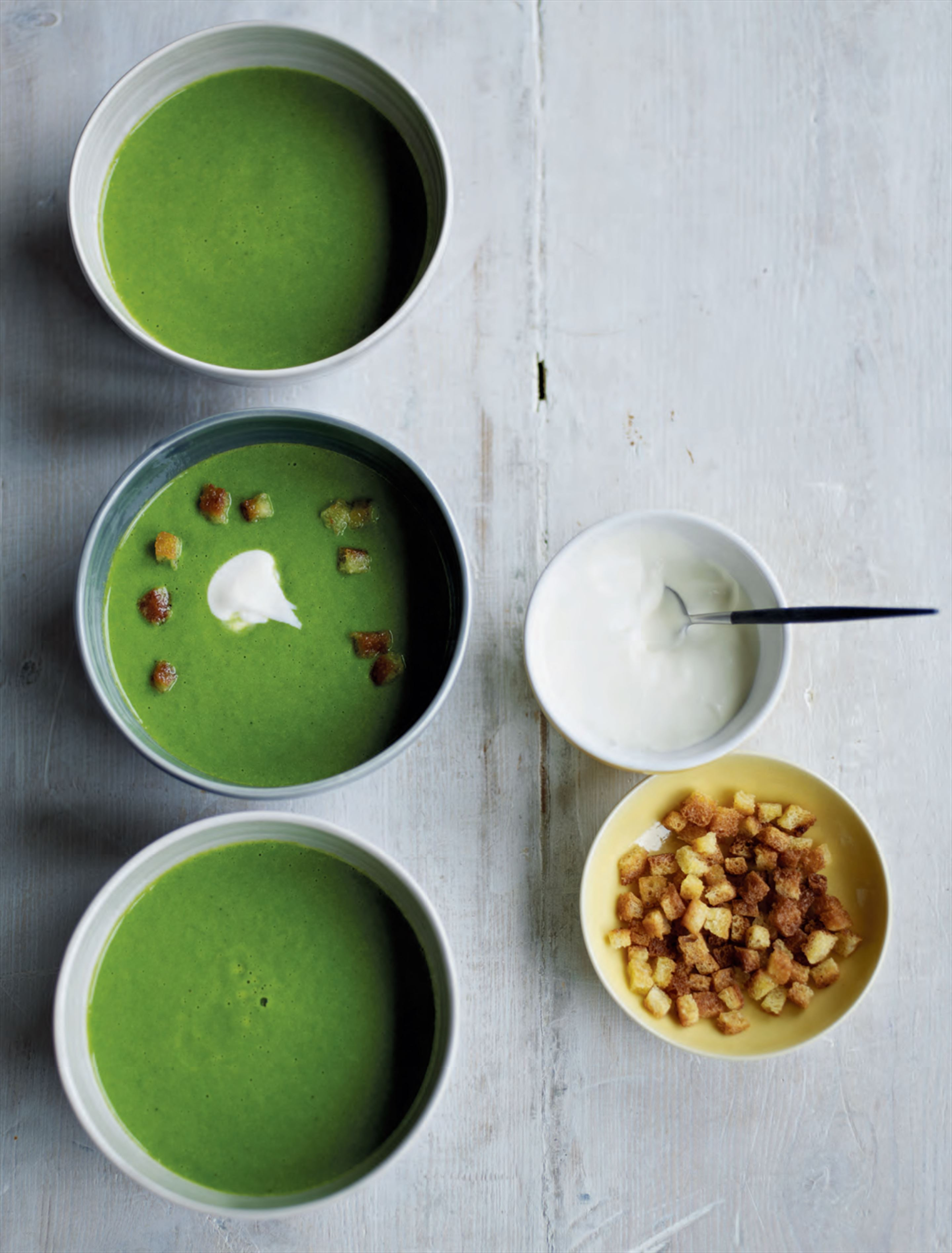 Green pea & watercress soup