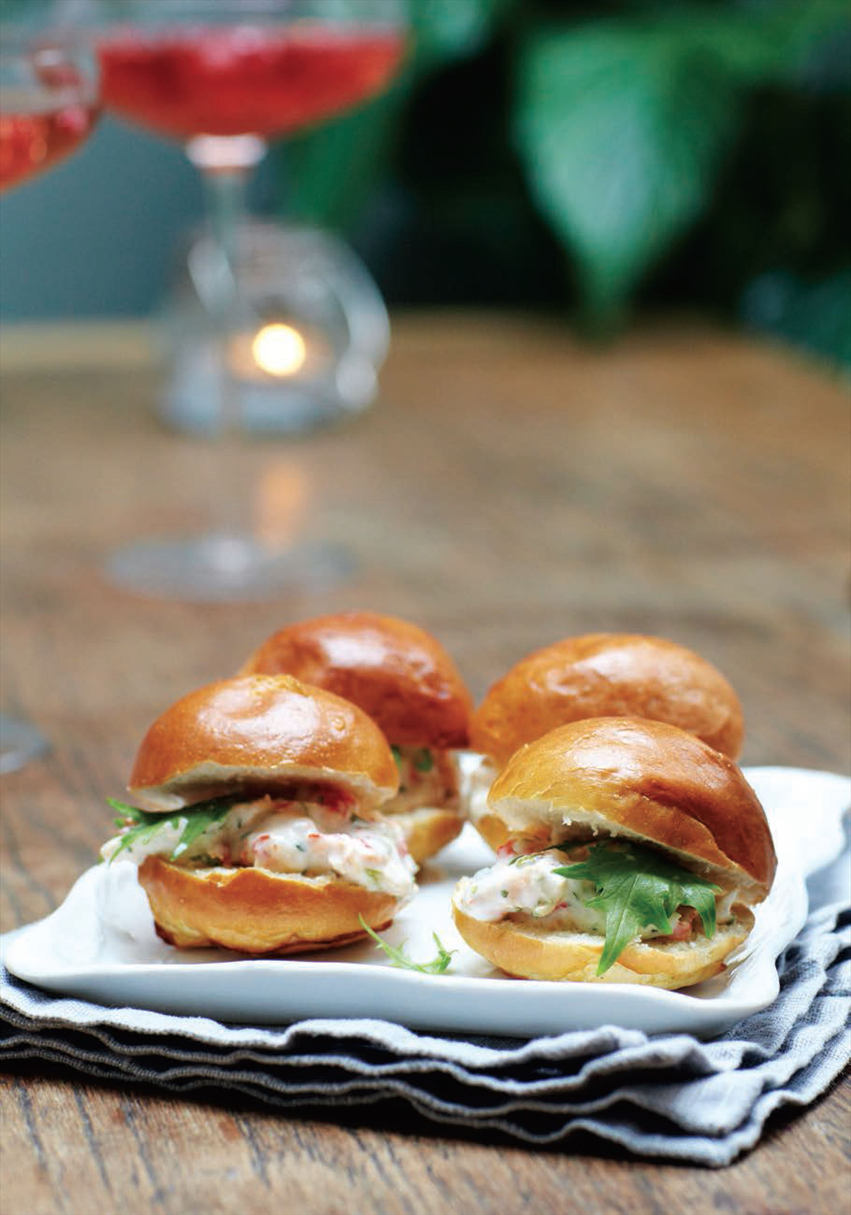 Mini lobster brioche rolls
