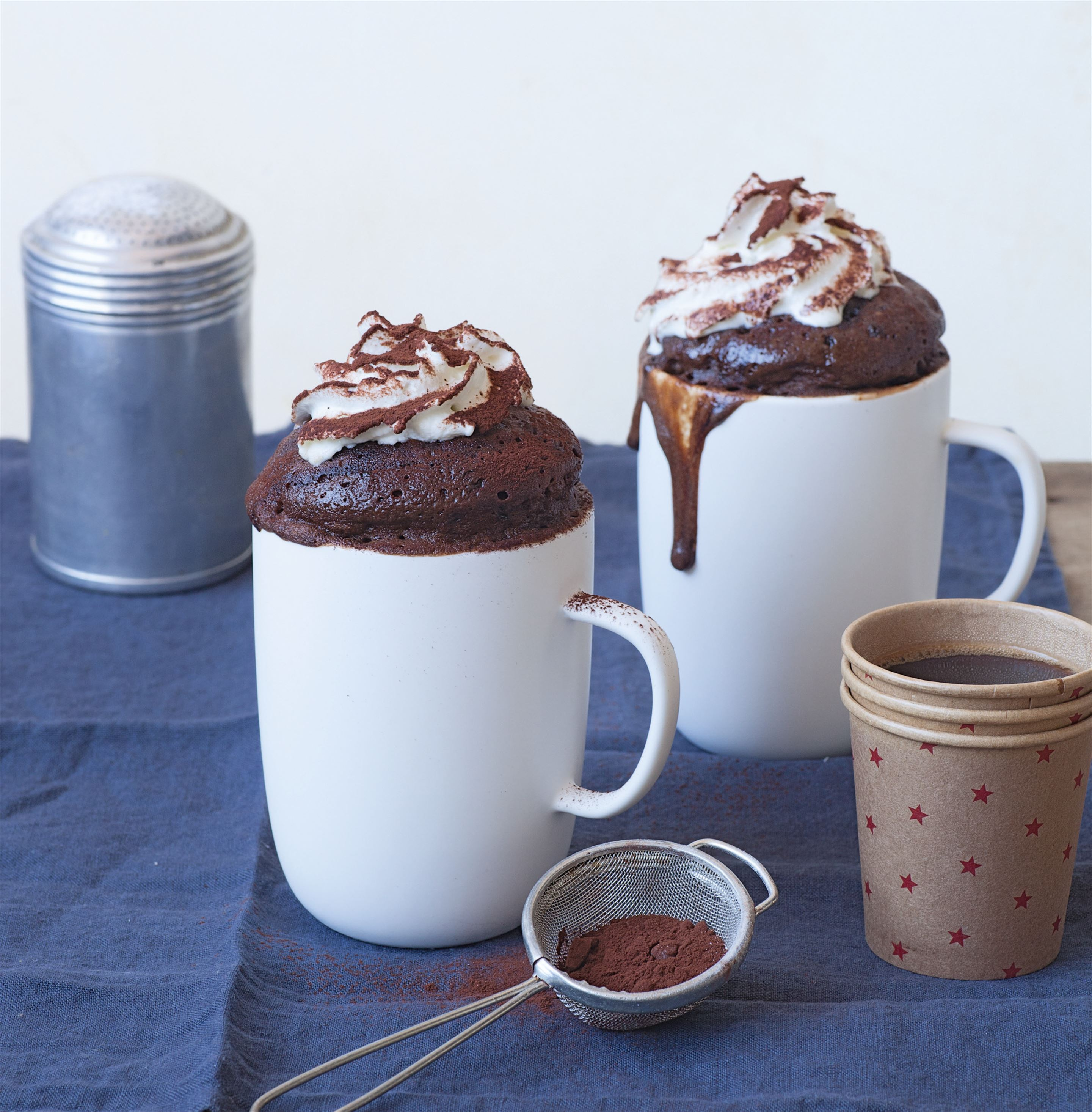 Cappuccino mug cake with whipped cream