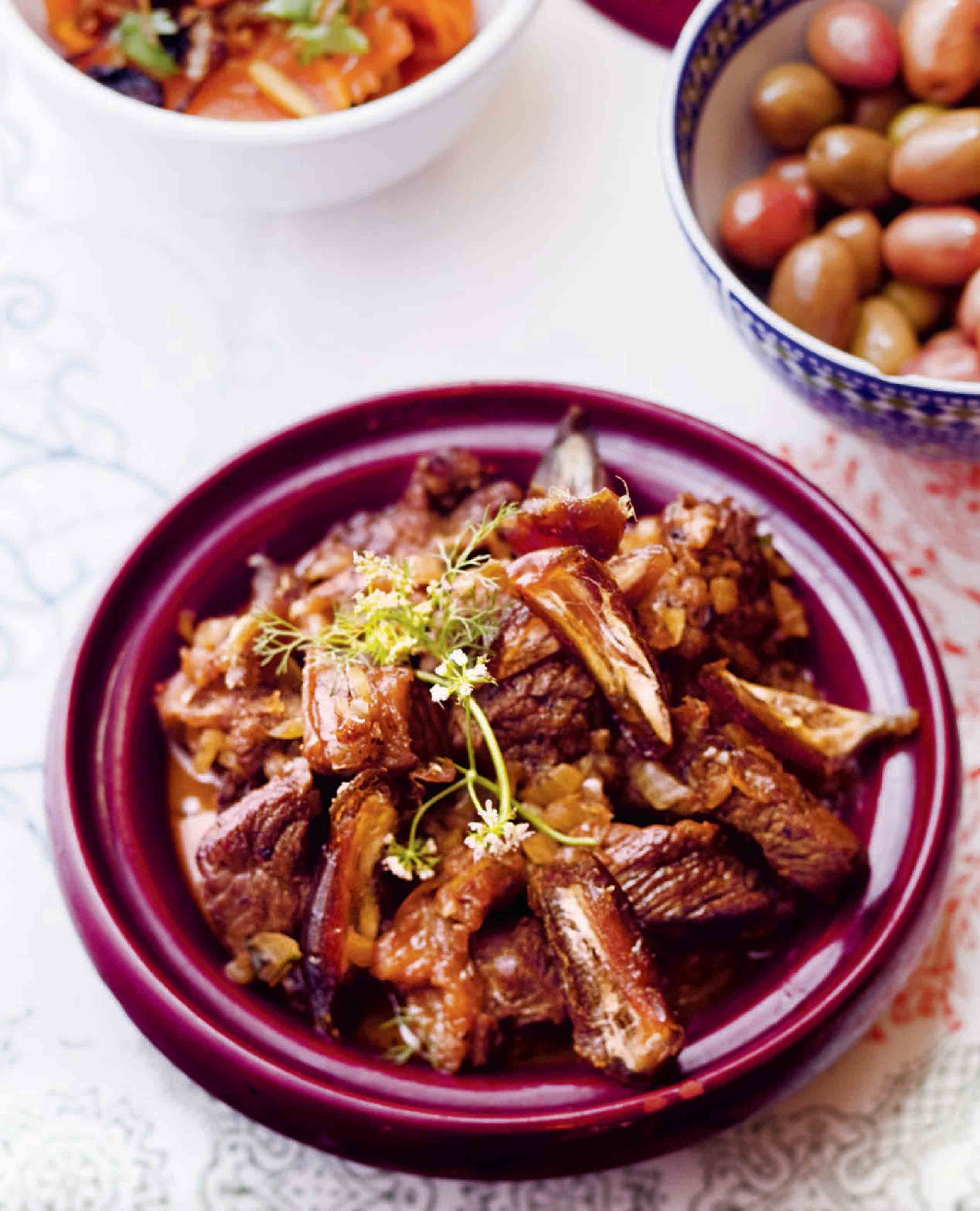 Lamb tagine with medjoul dates