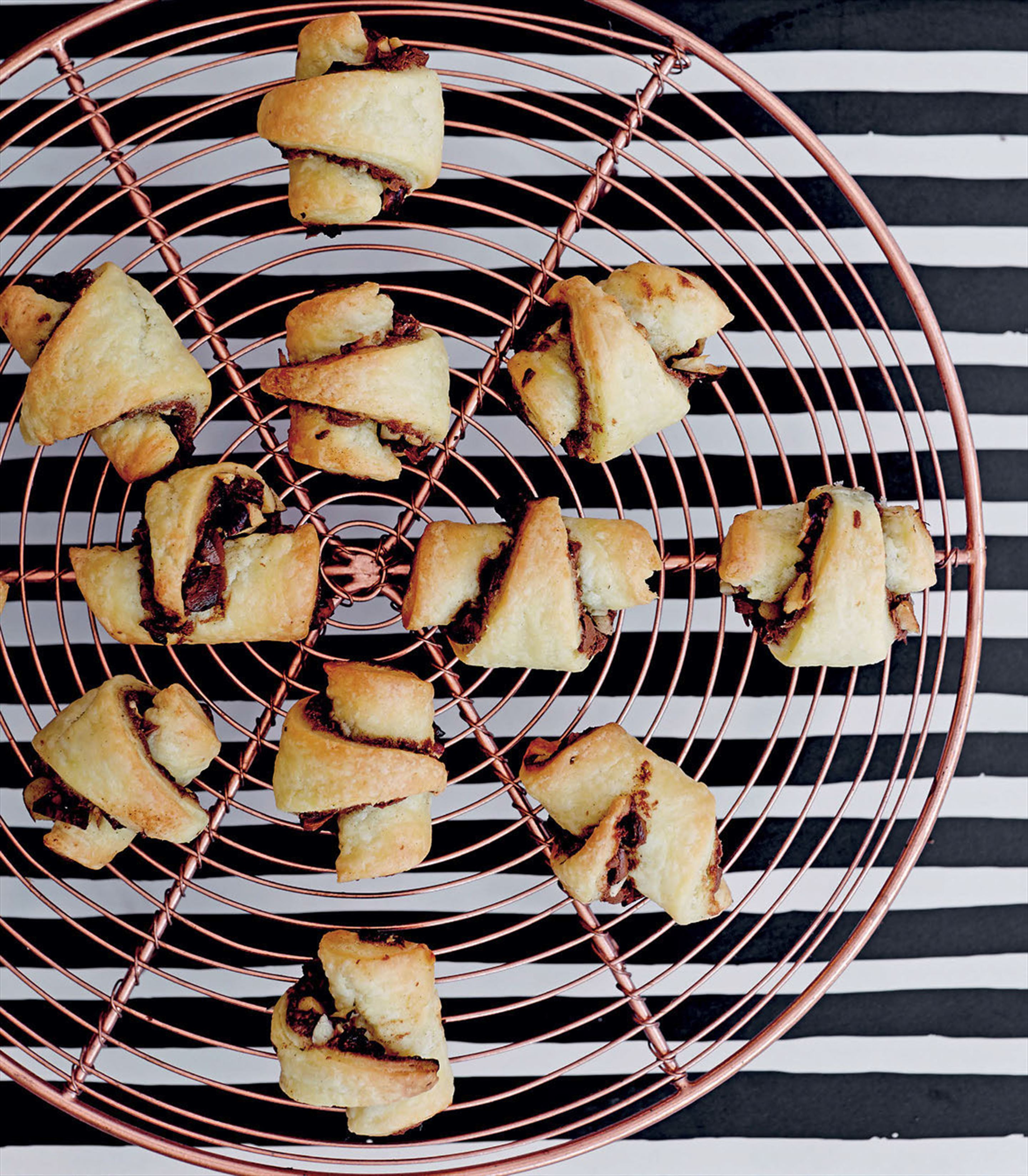 Chocolate–hazelnut rugelach