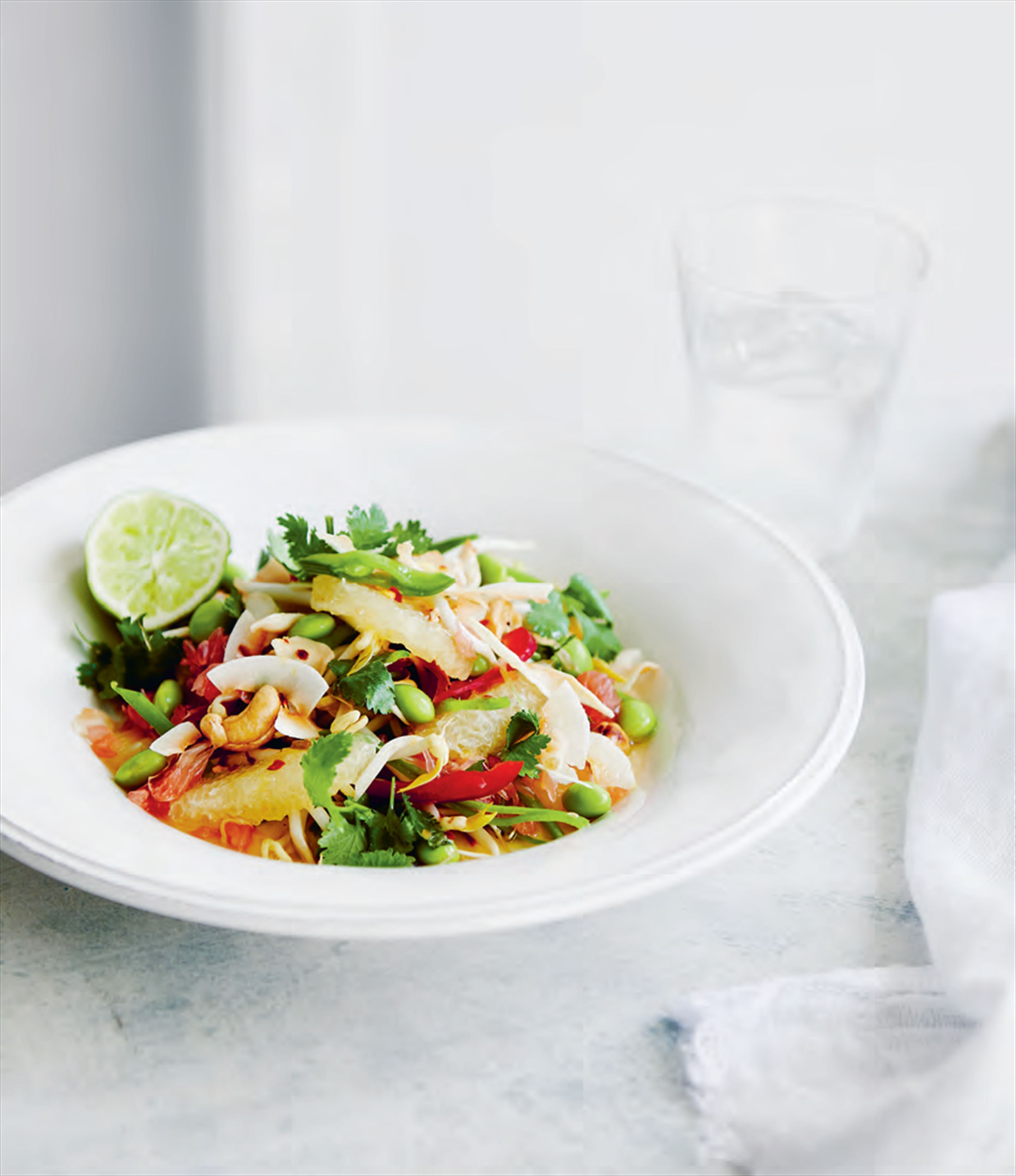 Spice-infused pomelo salad