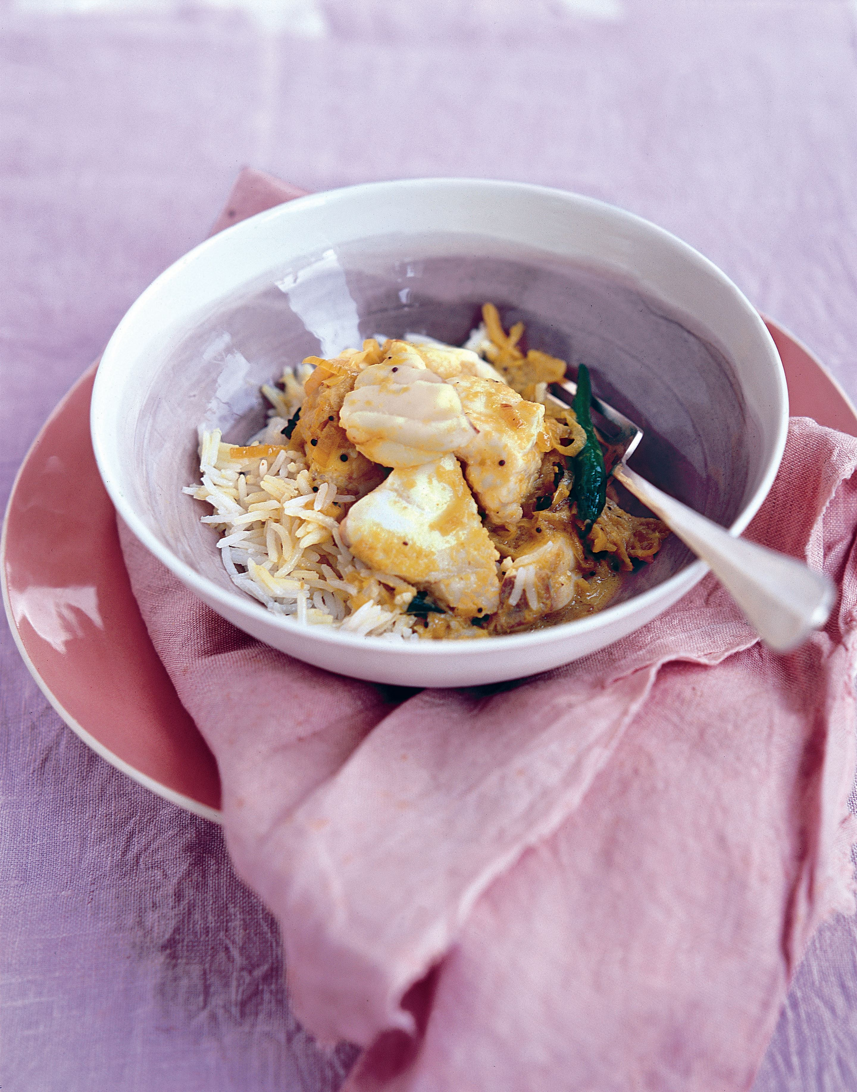 Fragrant coconut fish curry